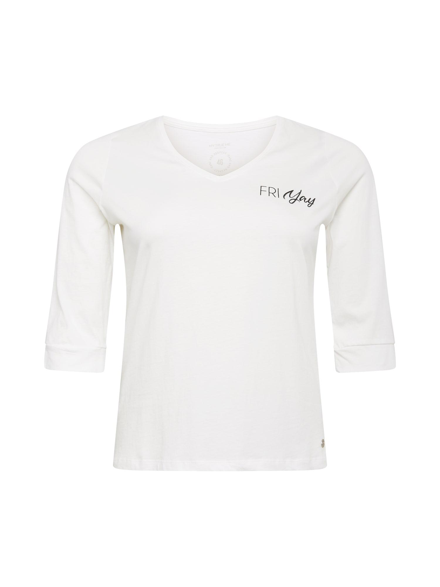 MY TRUE ME Marškinėliai balta / juoda