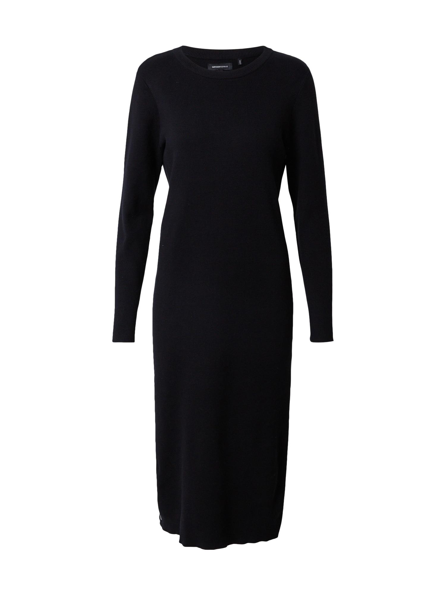 Superdry Úpletové šaty 'STUDIOS'  černá