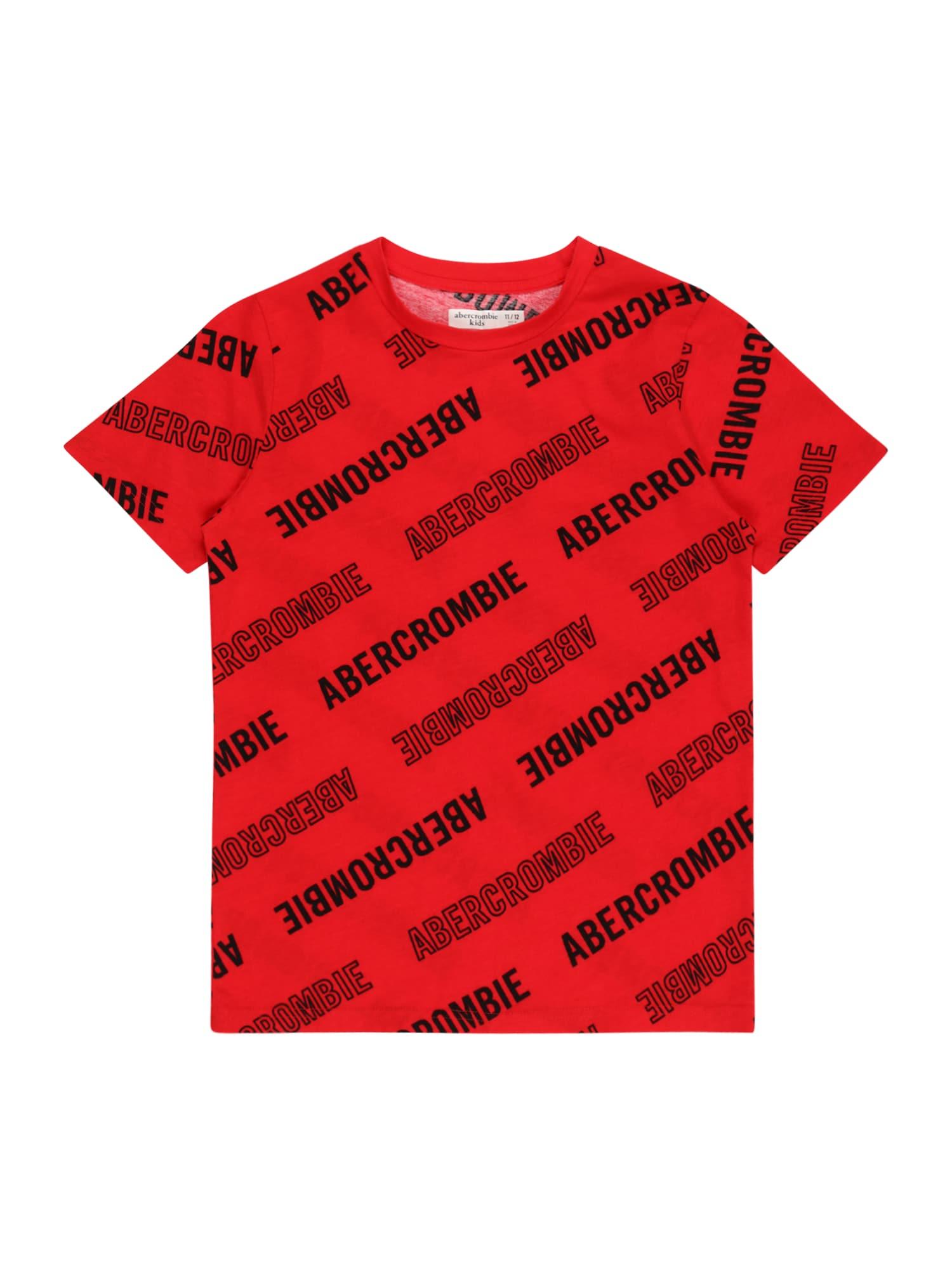 Abercrombie & Fitch Marškinėliai raudona / juoda