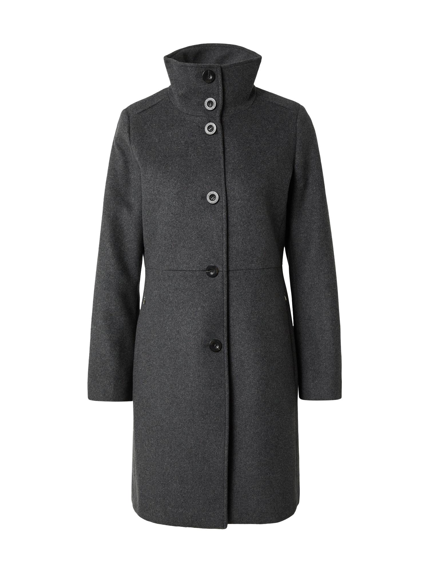 Esprit Collection Přechodný kabát  tmavě šedá