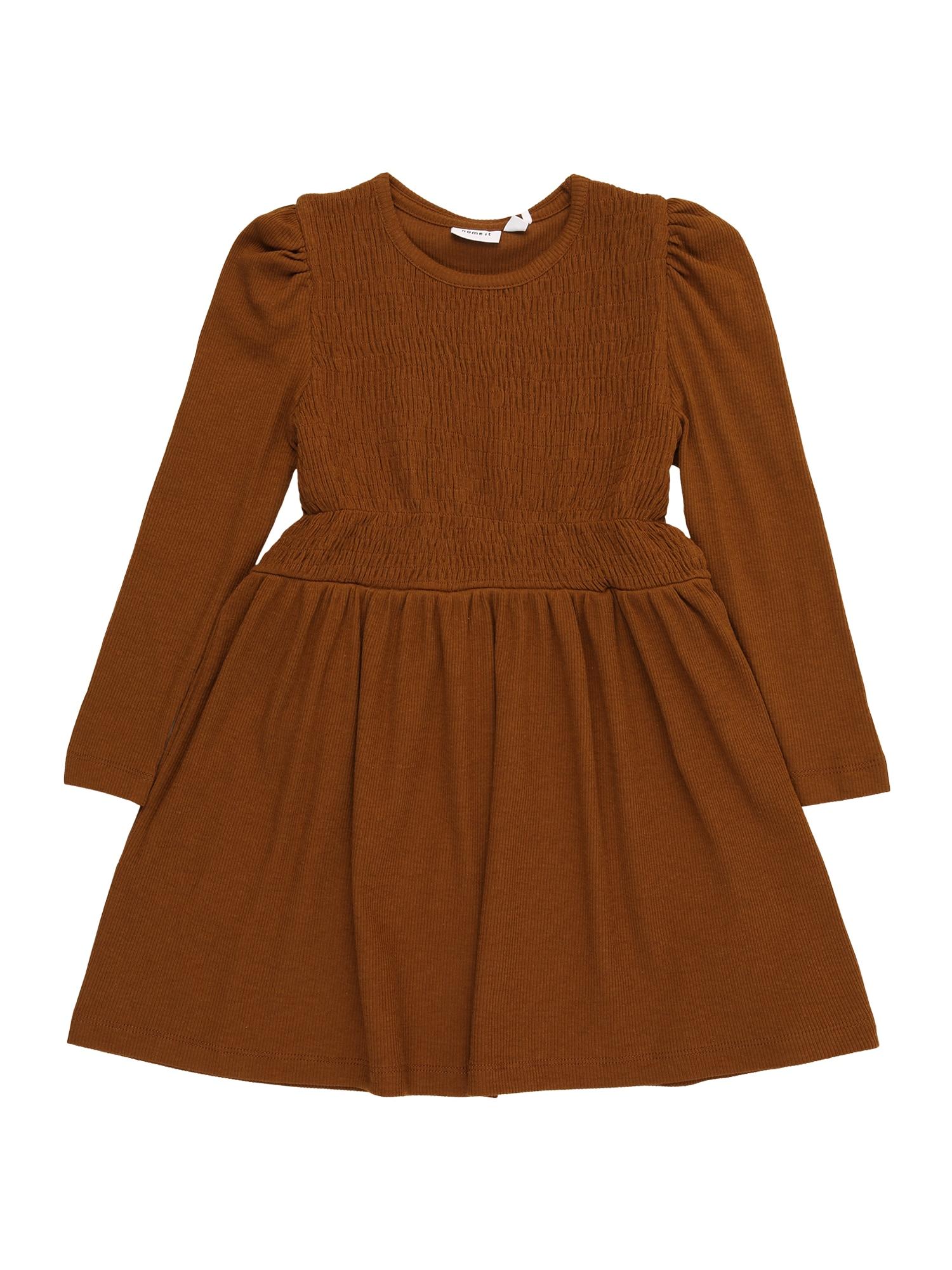 NAME IT Suknelė 'BESAIA' karamelės
