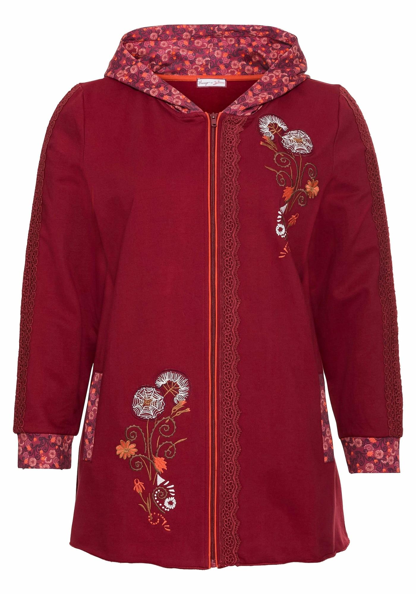 SHEEGO Džemperis rubinų raudona