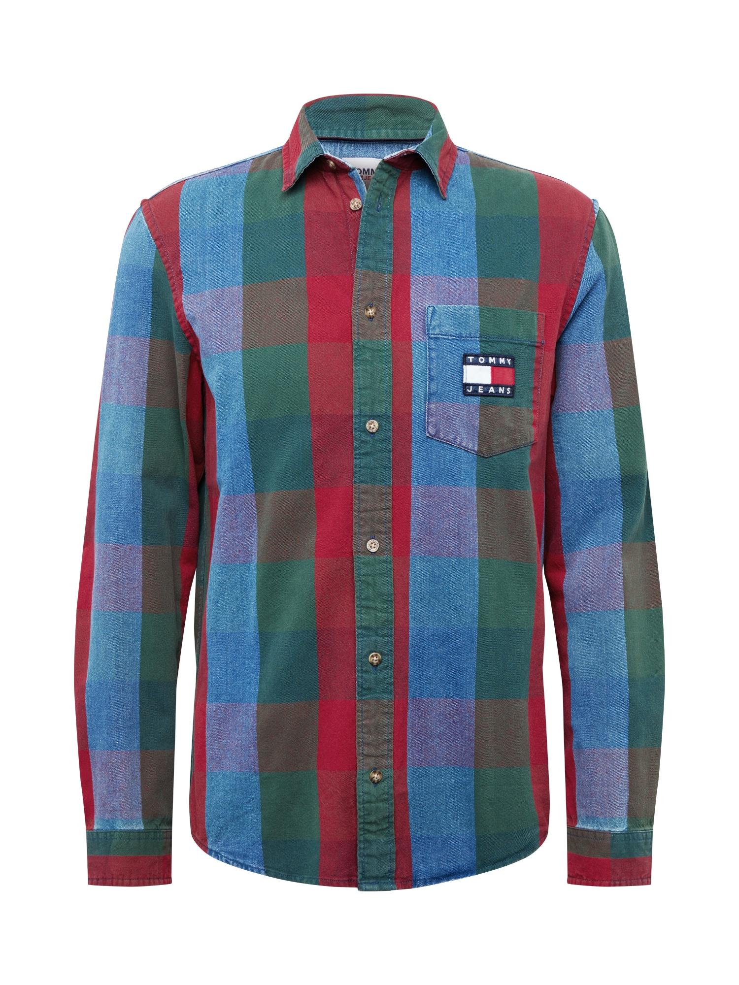 Tommy Jeans Košile  krvavě červená / indigo