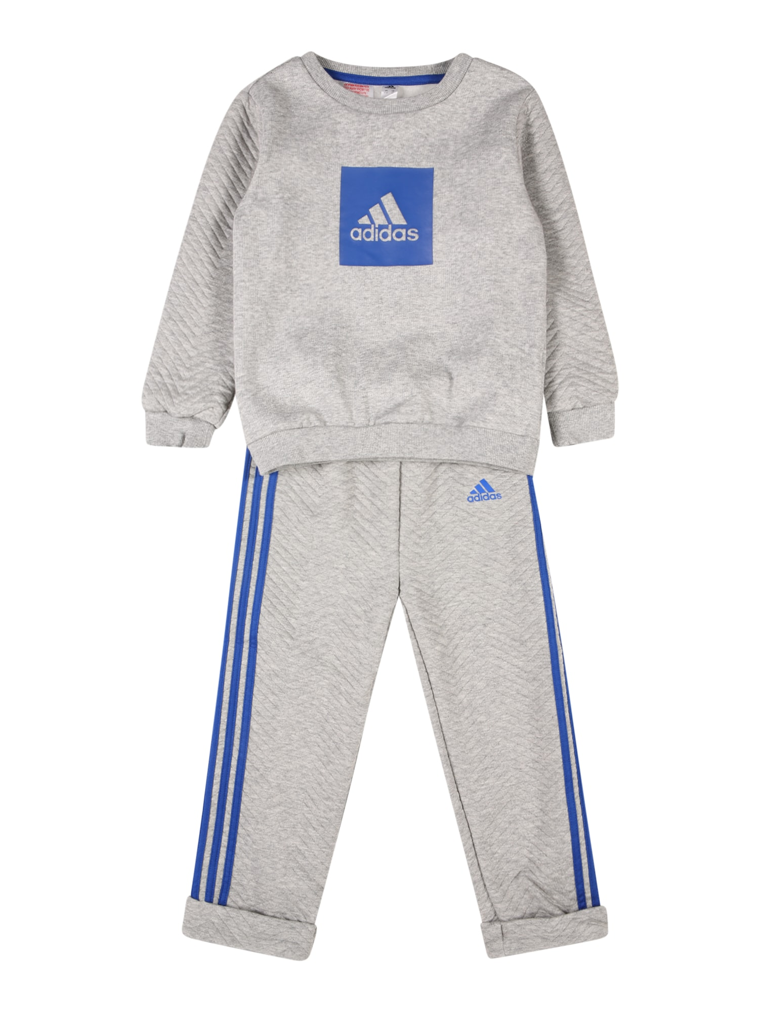 ADIDAS PERFORMANCE Treniruočių kostiumas margai pilka / mėlyna