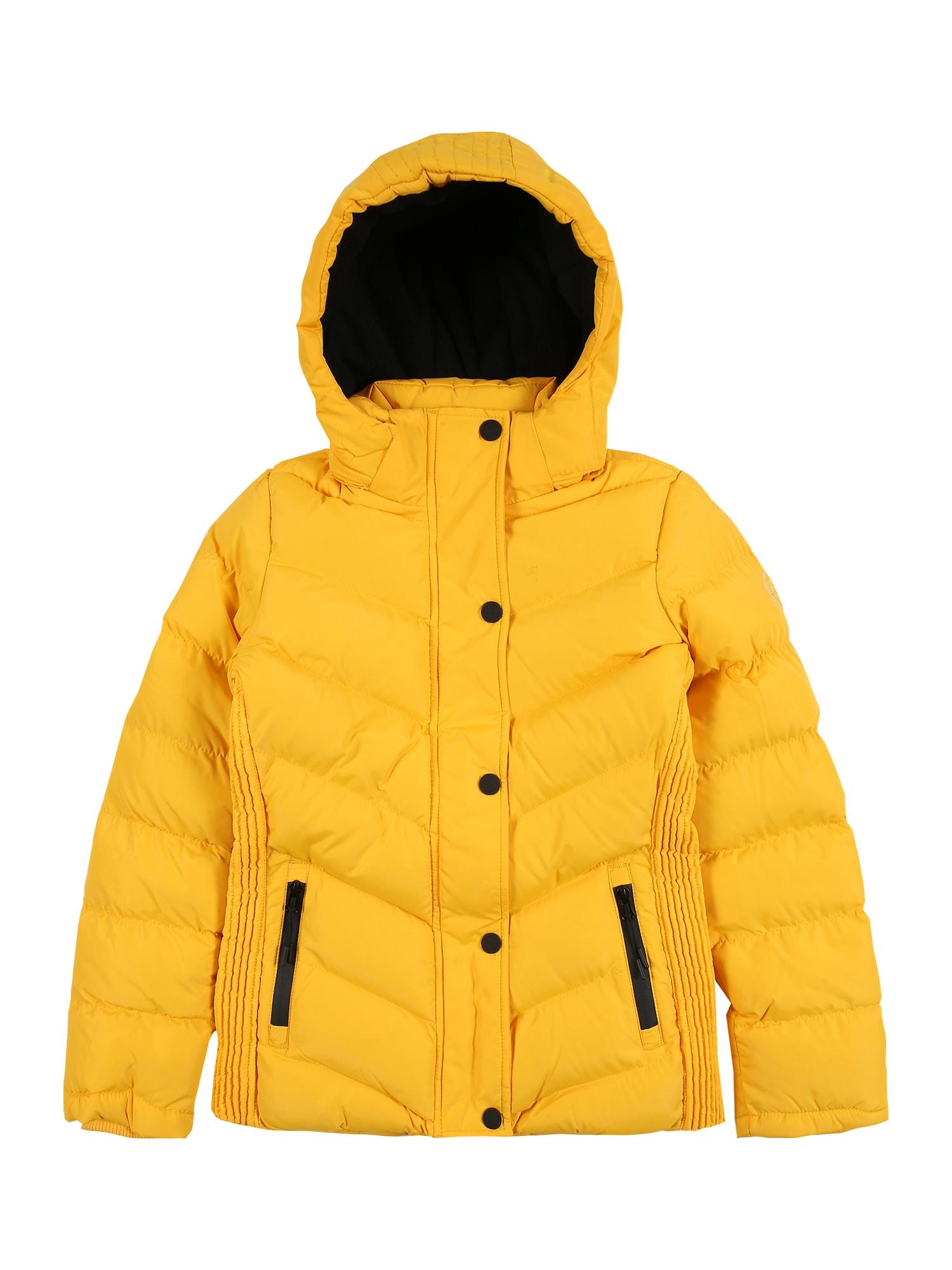 Cars Jeans Žieminė striukė 'LURDES' geltona