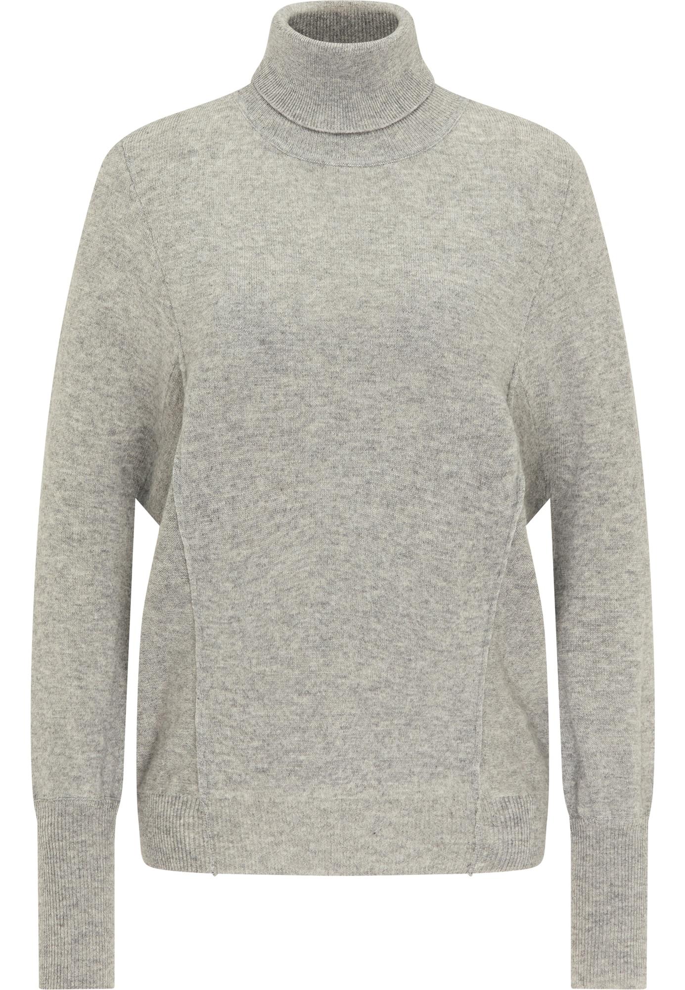 DreiMaster Klassik Laisvas megztinis pilka / šviesiai pilka