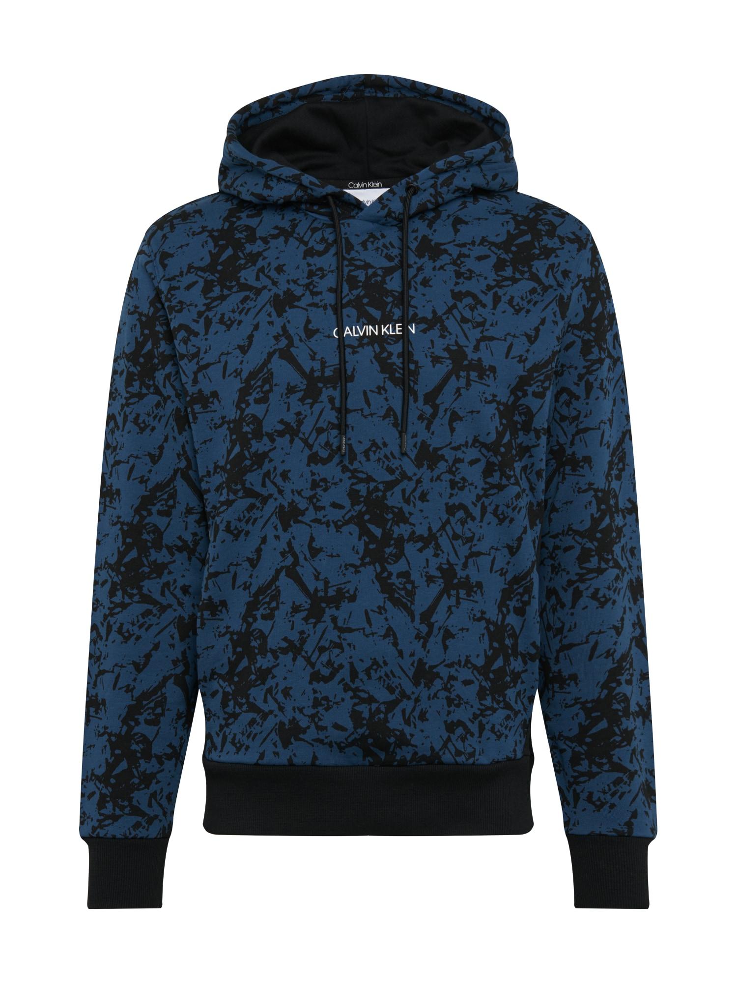 Calvin Klein Mikina  černá / modrá