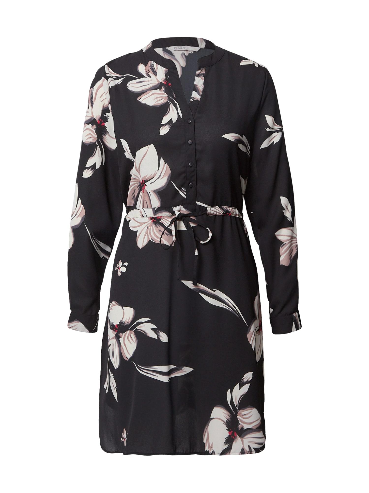 ONLY Košilové šaty 'Cory'  černá / mix barev