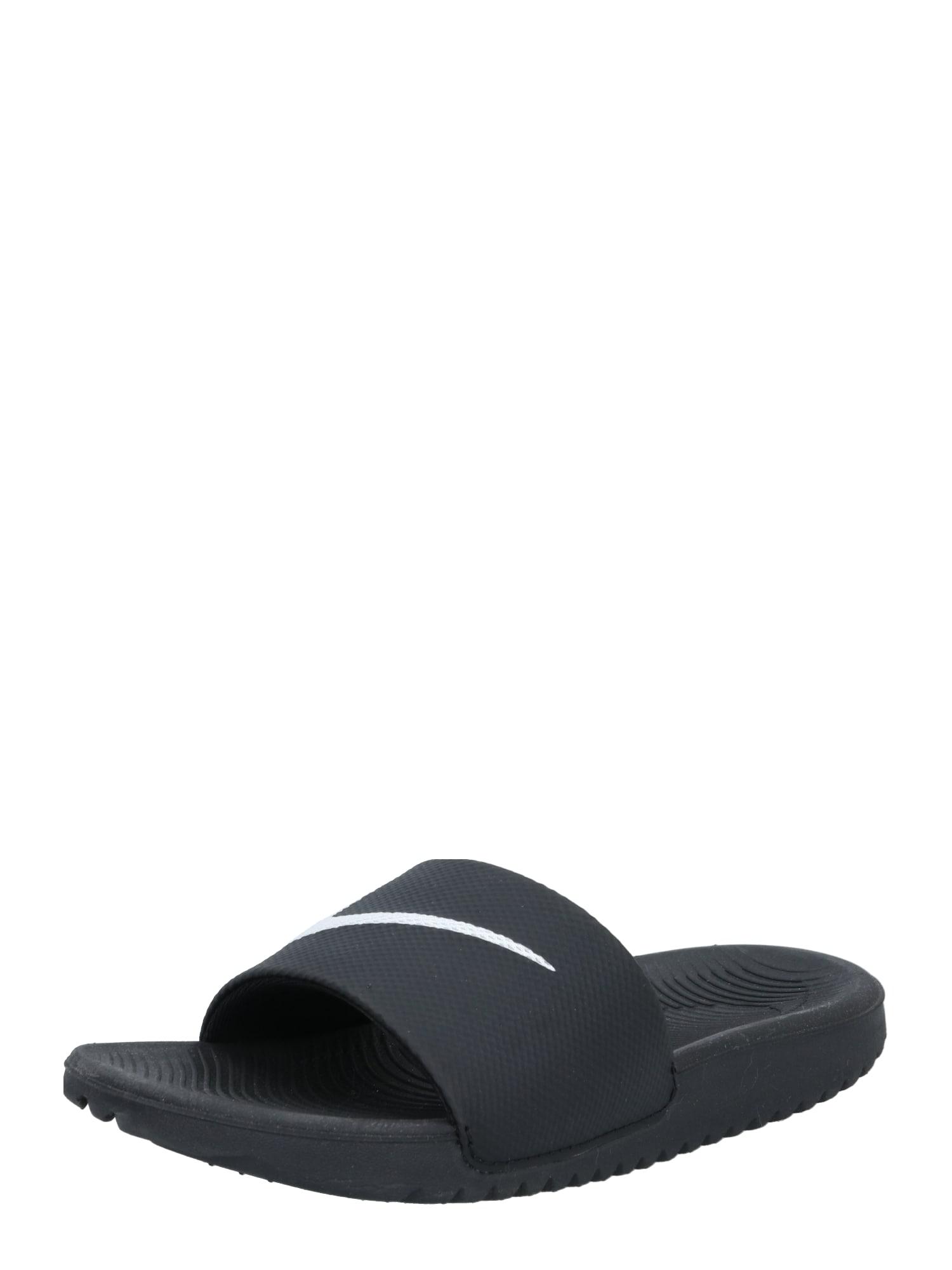NIKE Sandalai / maudymosi batai juoda / balta
