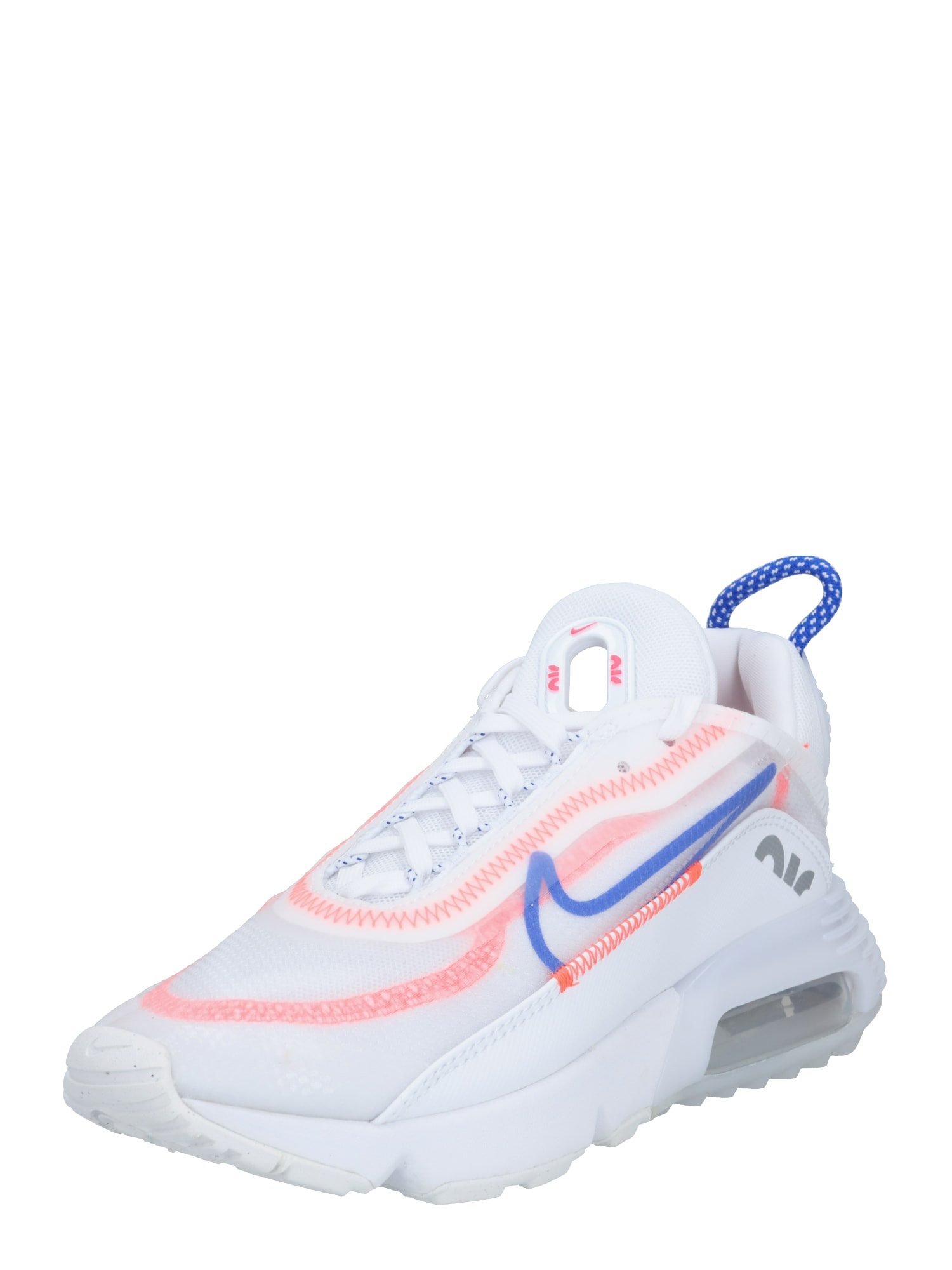 Nike Sportswear Tenisky  bílá / svítivě oranžová / královská modrá