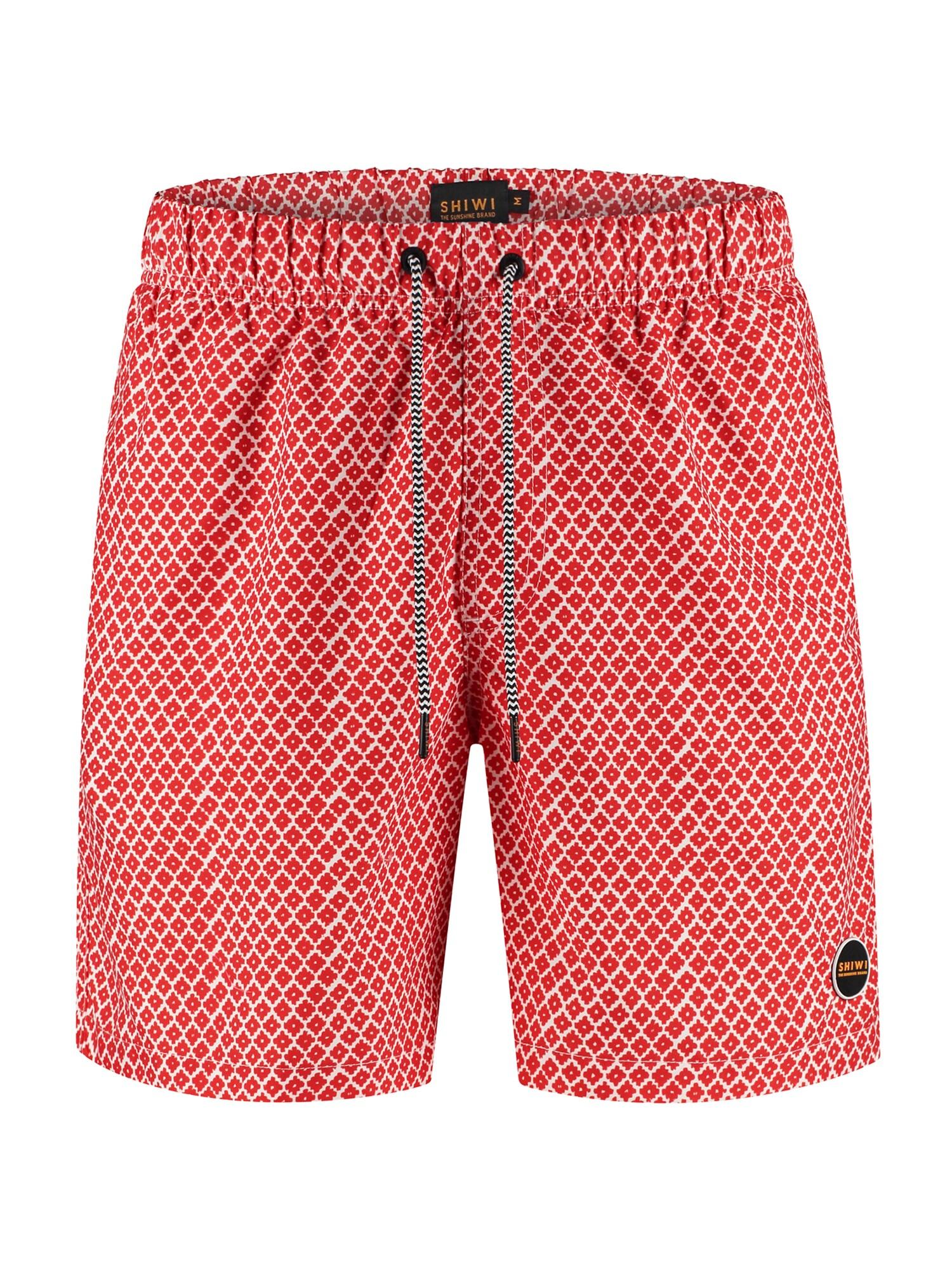 Shiwi Plavecké šortky  ohnivá červená / bílá