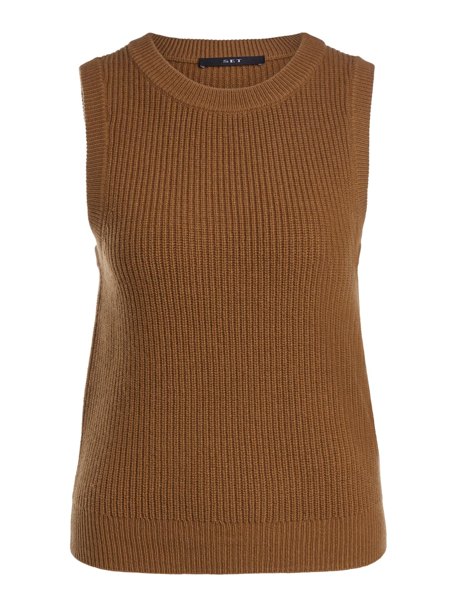 SET Megztinis kaštoninė spalva