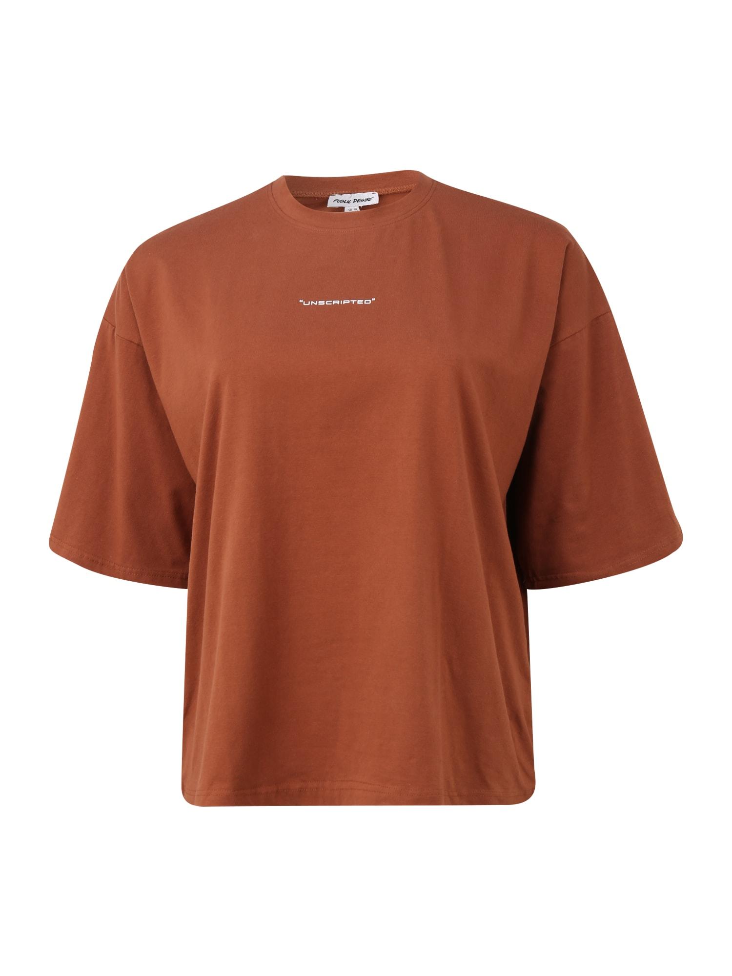 Public Desire Curve Marškinėliai karamelės / balta