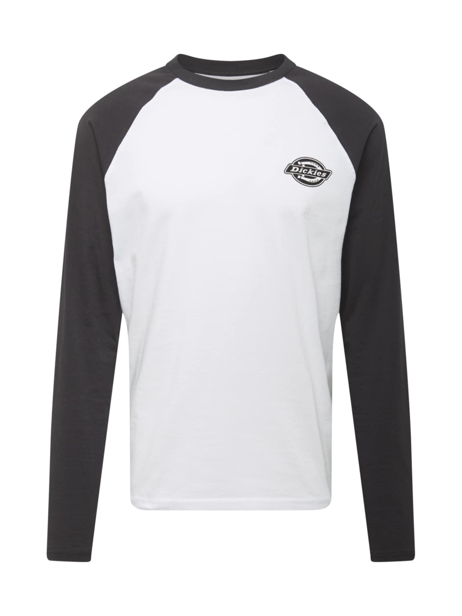 DICKIES Marškinėliai juoda / balta
