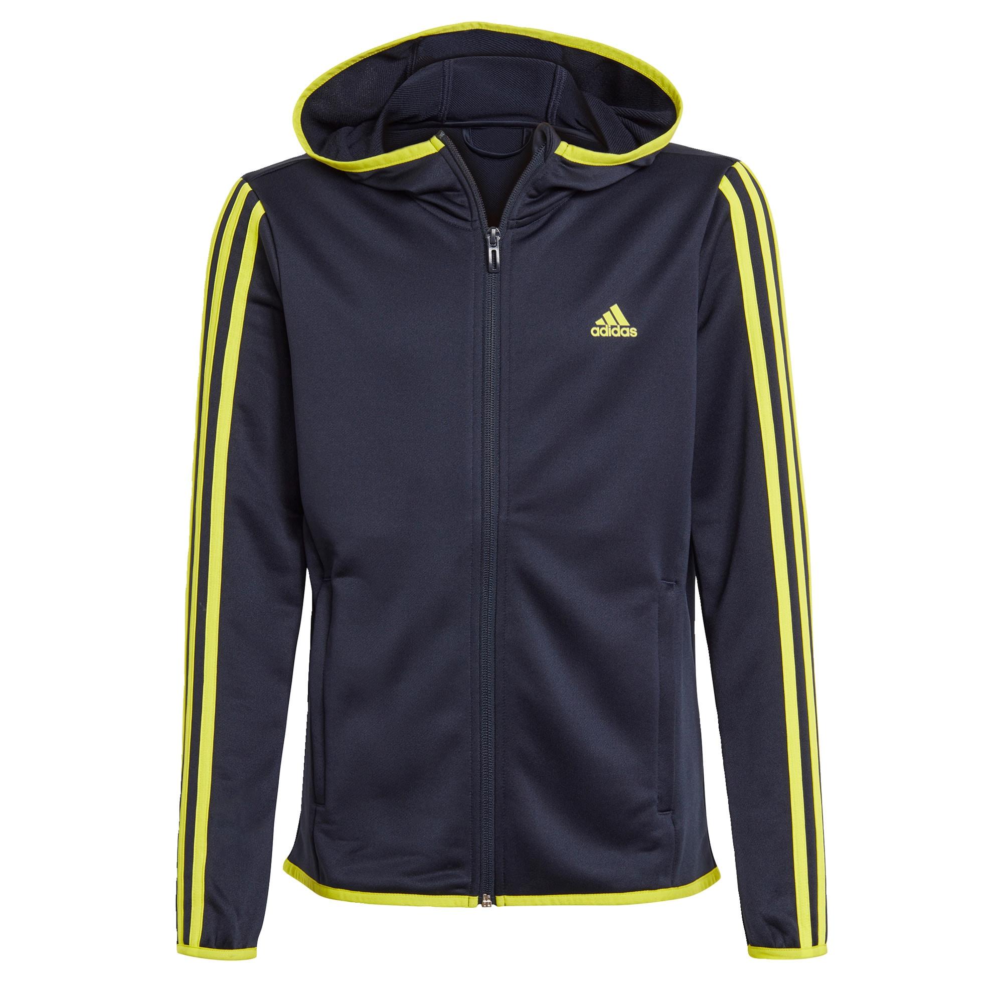 ADIDAS PERFORMANCE Sportinis džemperis nakties mėlyna / neoninė geltona