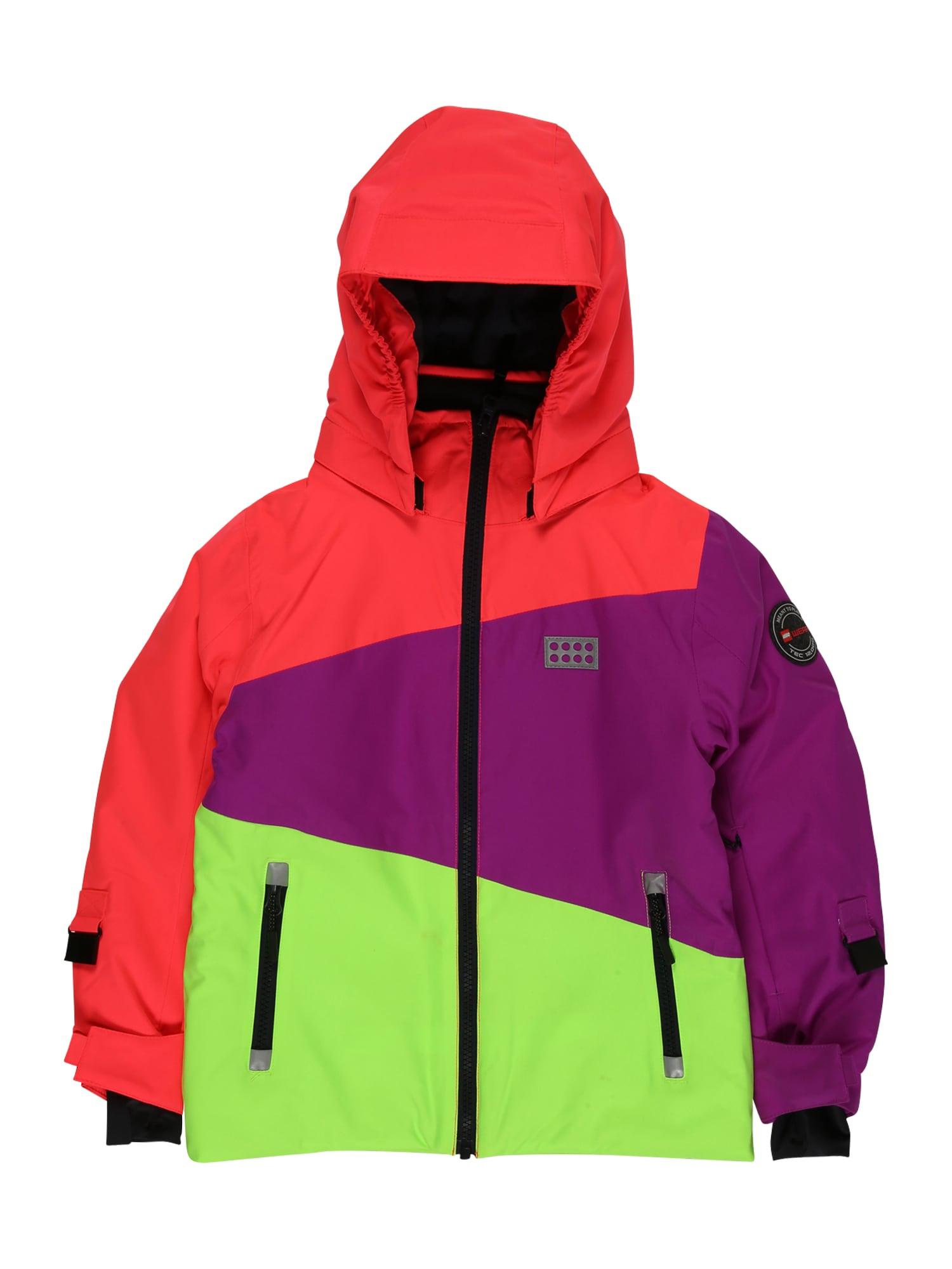 LEGO WEAR Zimná bunda  červená / fialová / zelená