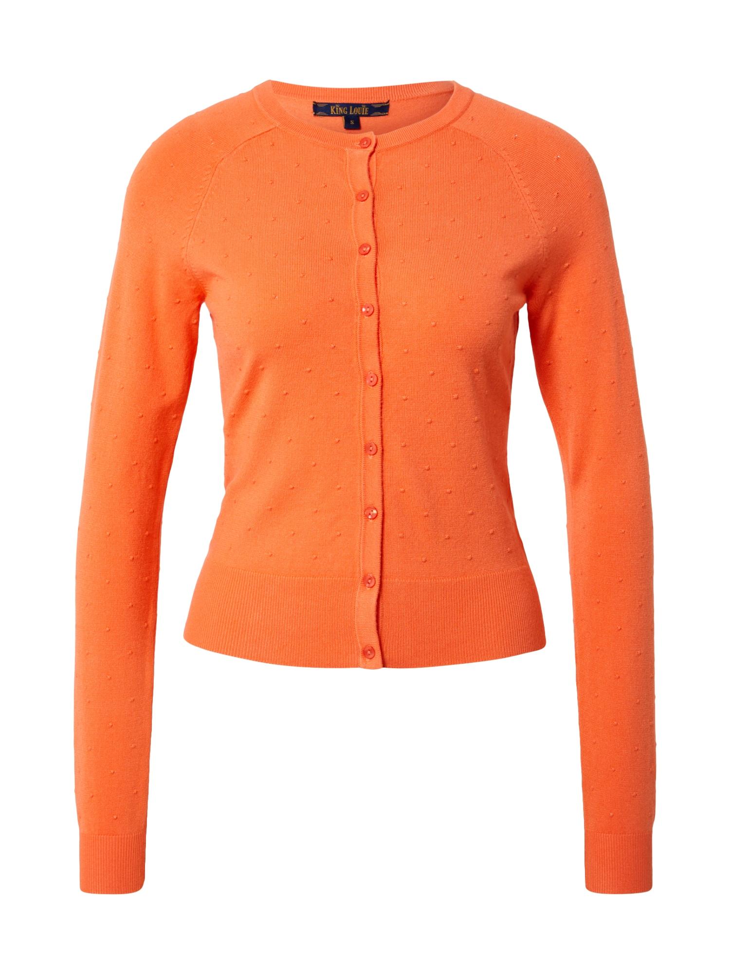 King Louie Kardiganas mandarinų spalva