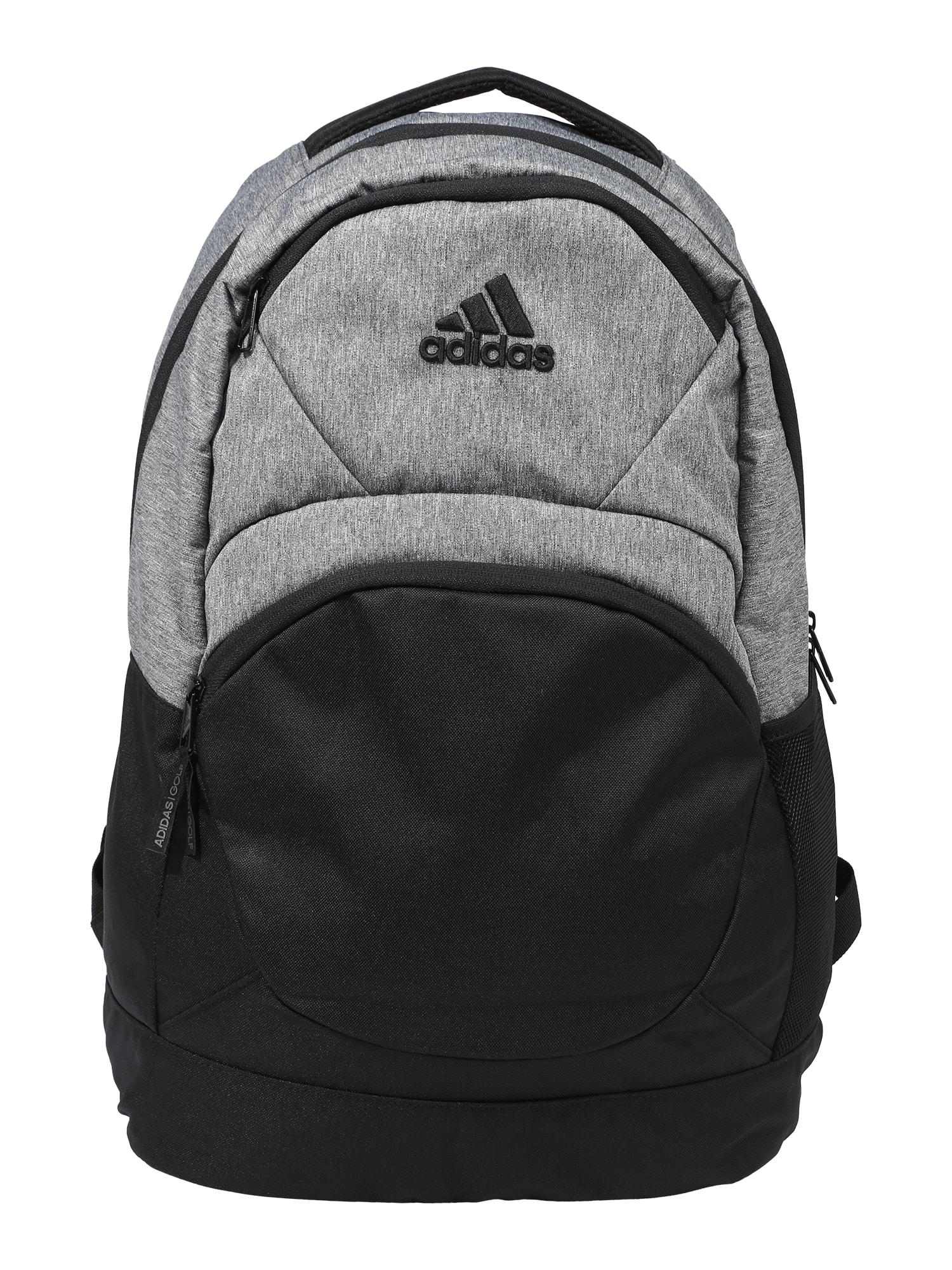 adidas Golf Sportinė kuprinė juoda / margai pilka