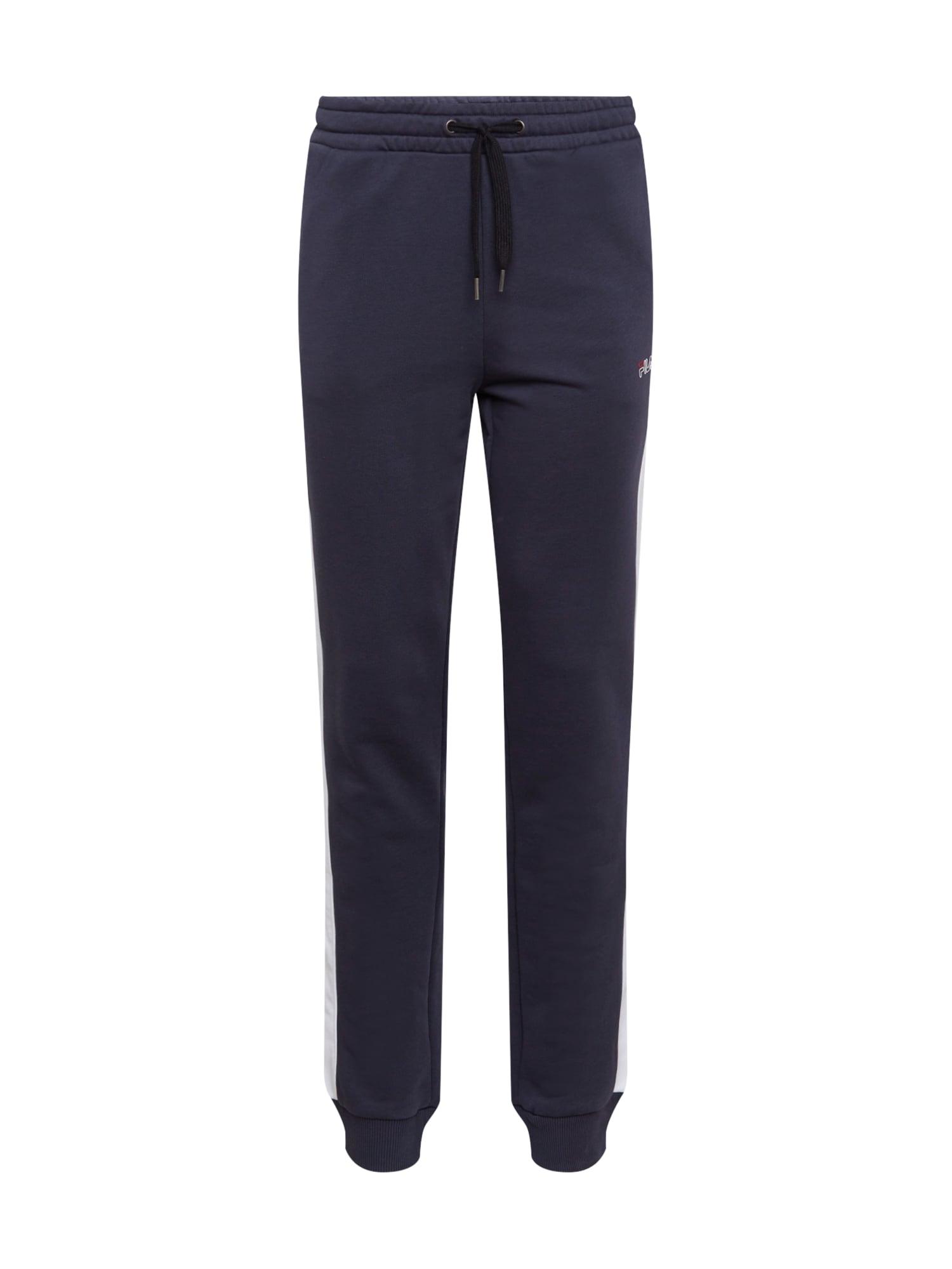 FILA Sportovní kalhoty 'LARS'  bílá / chladná modrá