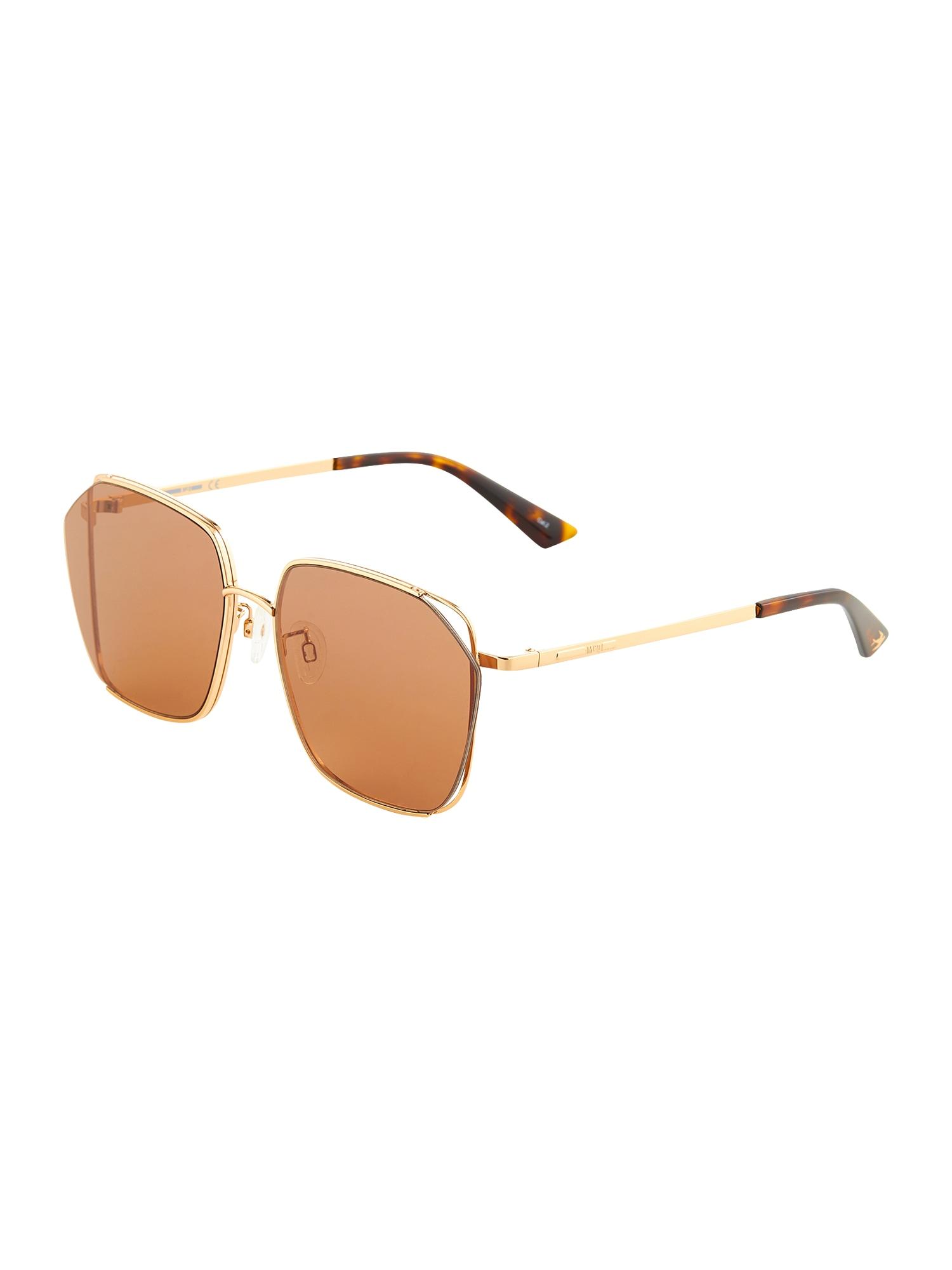 McQ Alexander McQueen Sluneční brýle  hnědá / oranžová