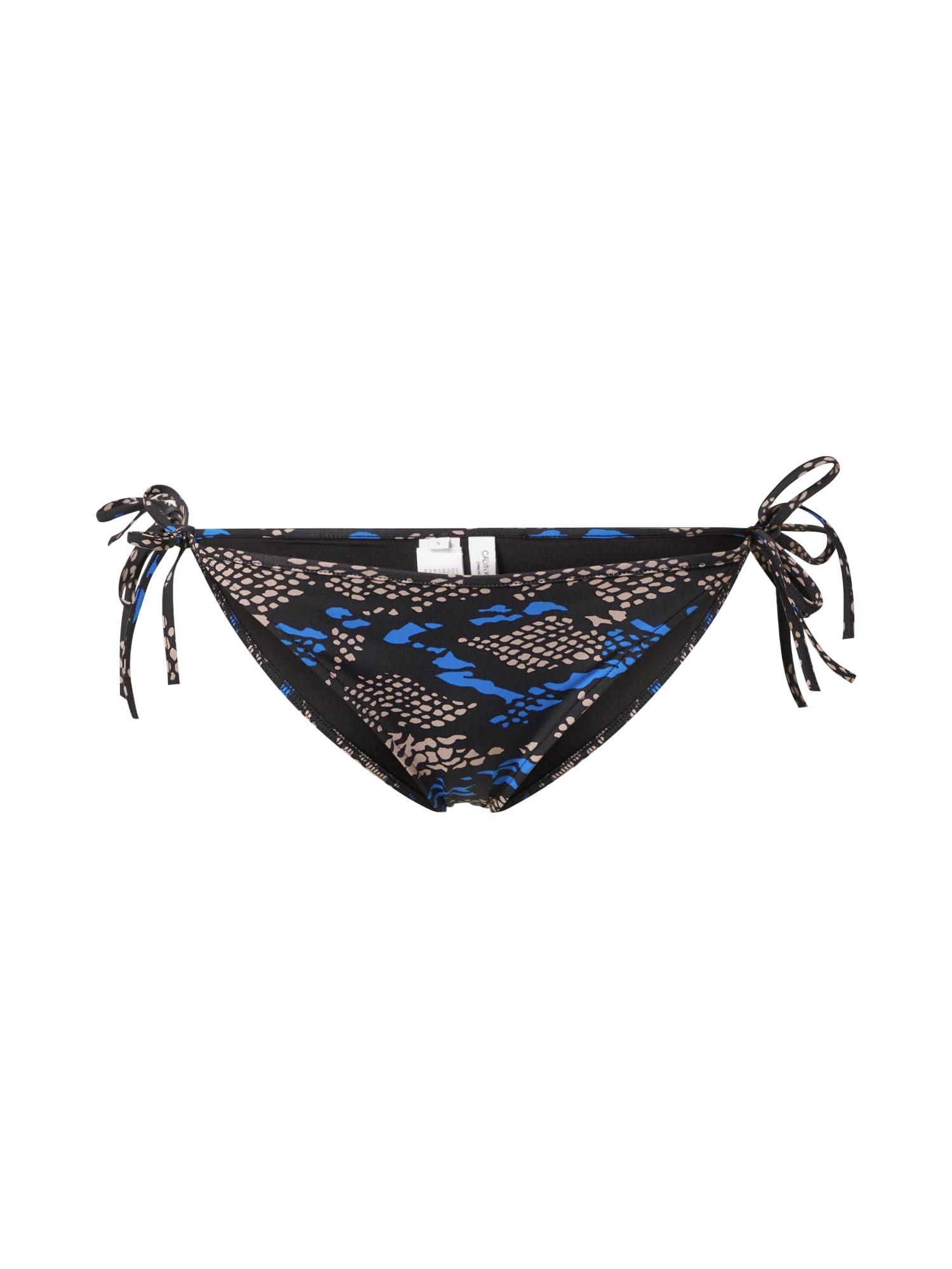 "Calvin Klein Swimwear Bikinio kelnaitės juoda / smėlio / sodri mėlyna (""karališka"")"
