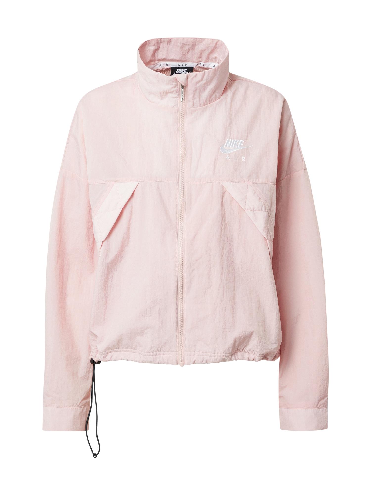 Nike Sportswear Demisezoninė striukė rožių spalva / balta