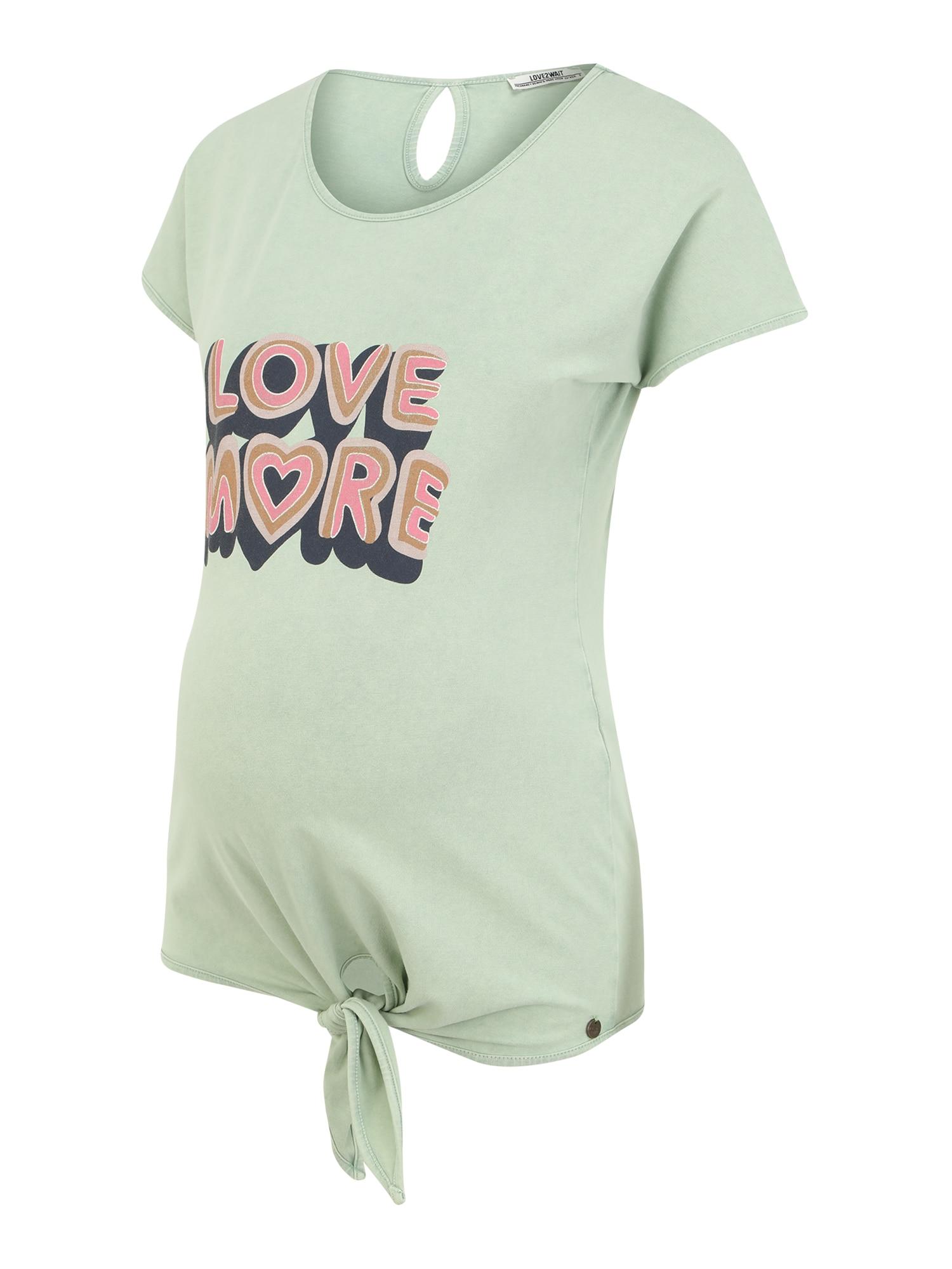 LOVE2WAIT Marškinėliai mėtų spalva / mišrios spalvos