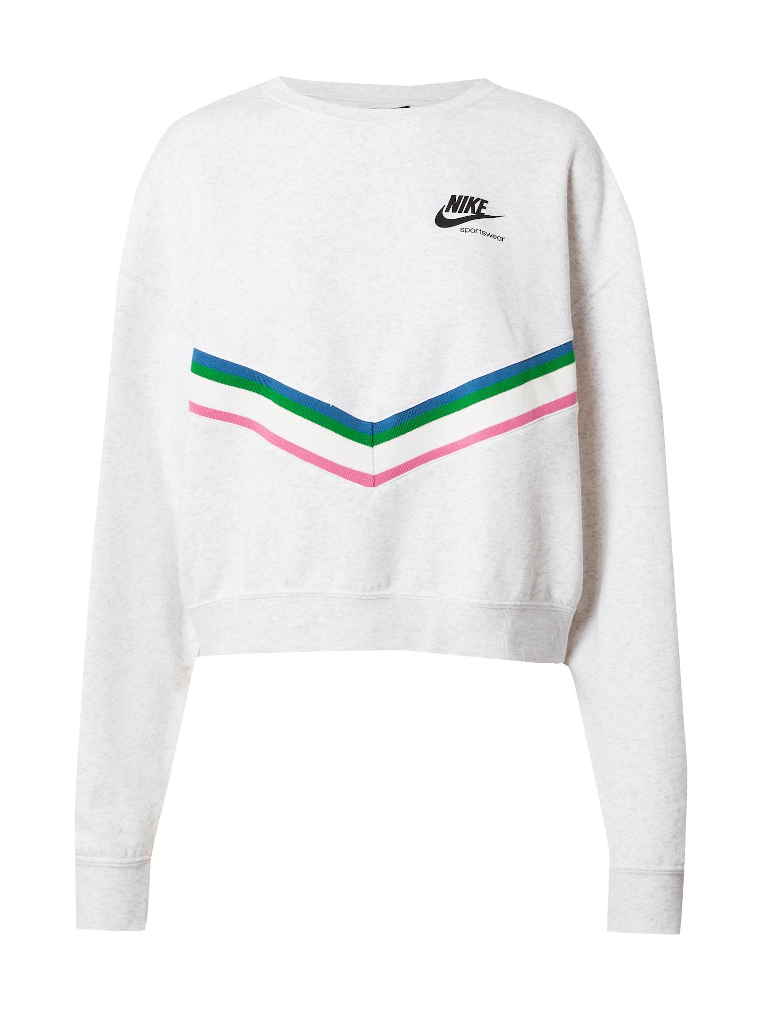 Nike Sportswear Mikina  mix barev / bílá
