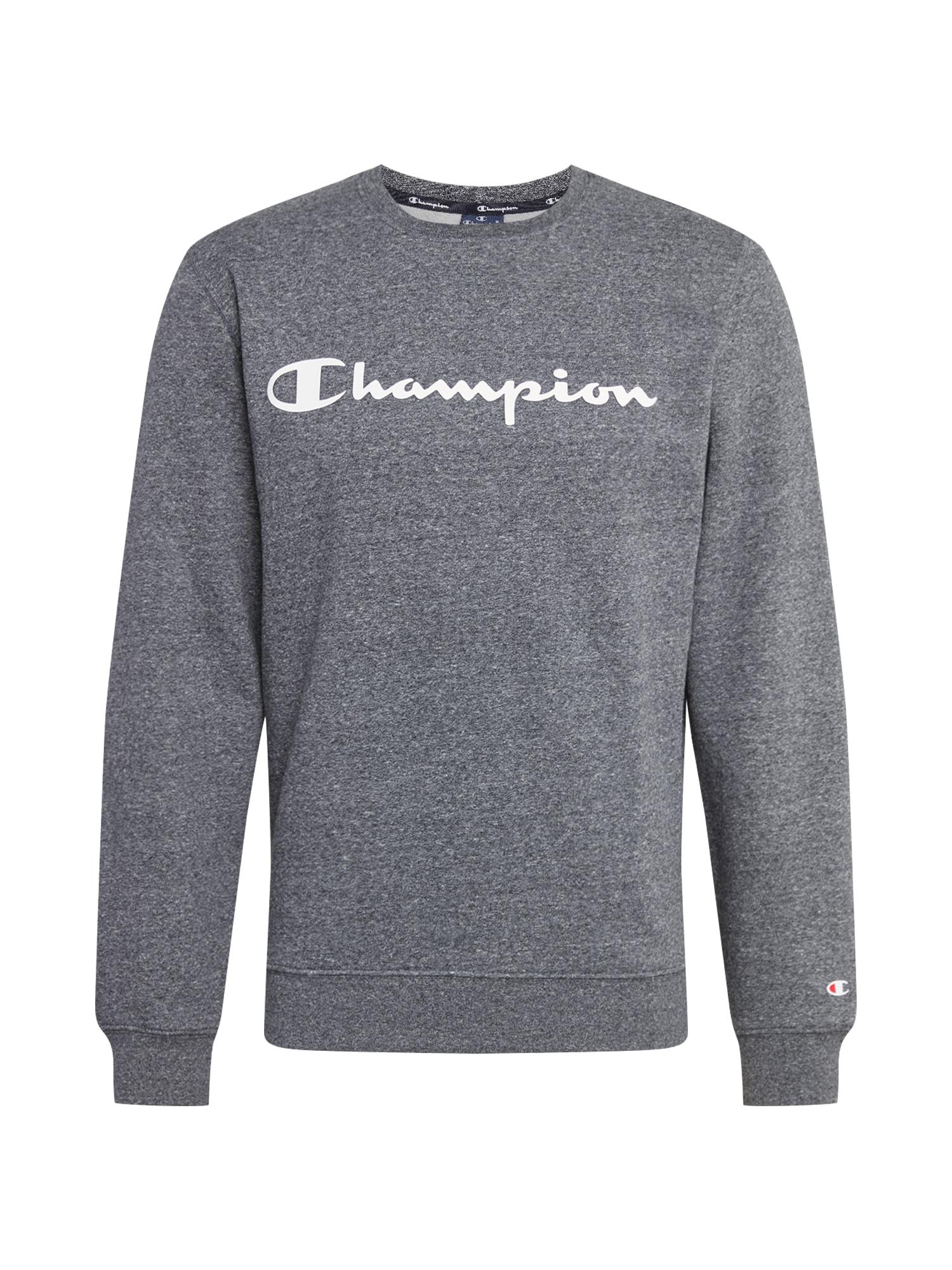 Champion Authentic Athletic Apparel Mikina  šedý melír / bílá