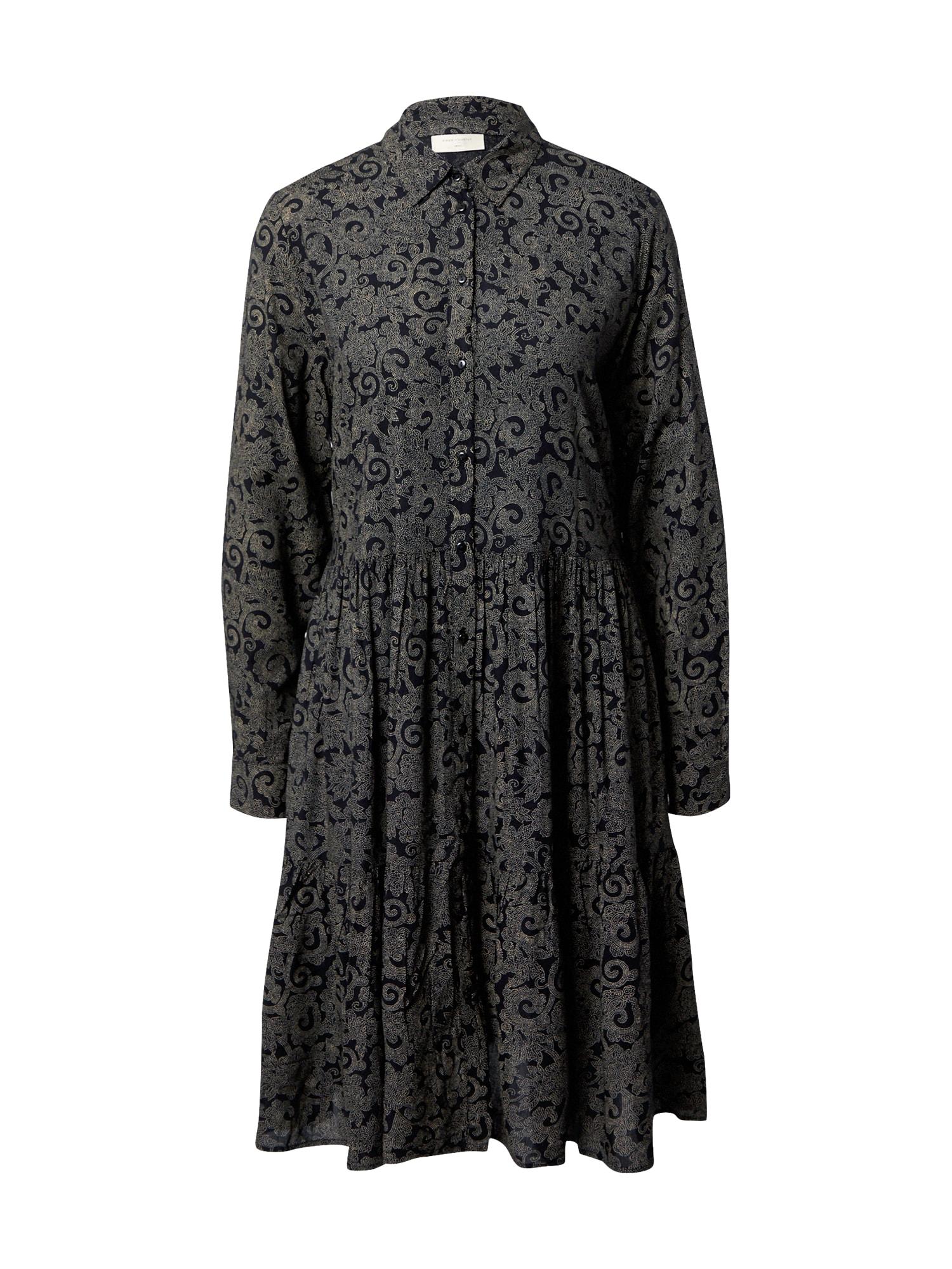 Freequent Palaidinės tipo suknelė juoda / tamsiai pilka
