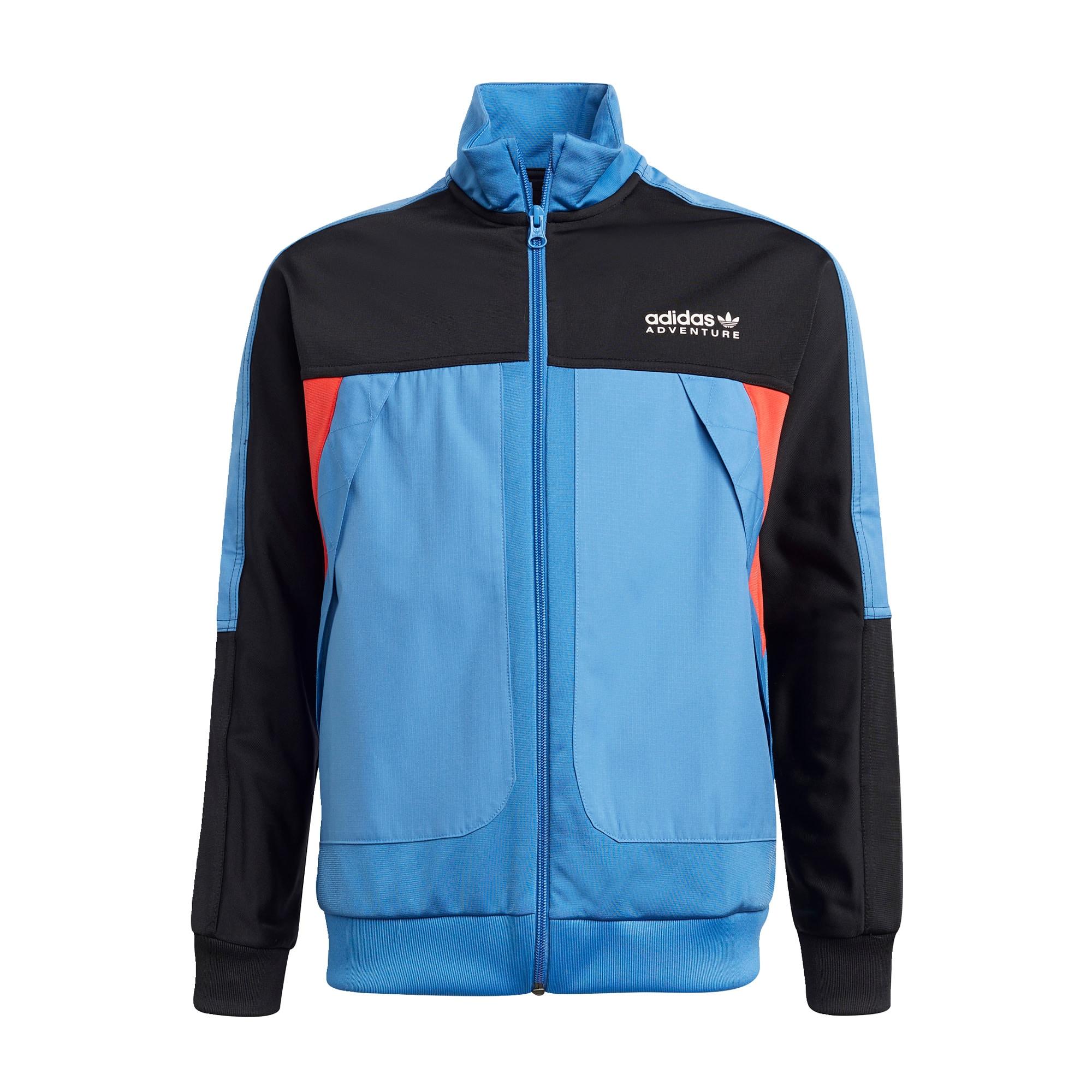 ADIDAS ORIGINALS Džemperis juoda / šviesiai mėlyna / oranžinė