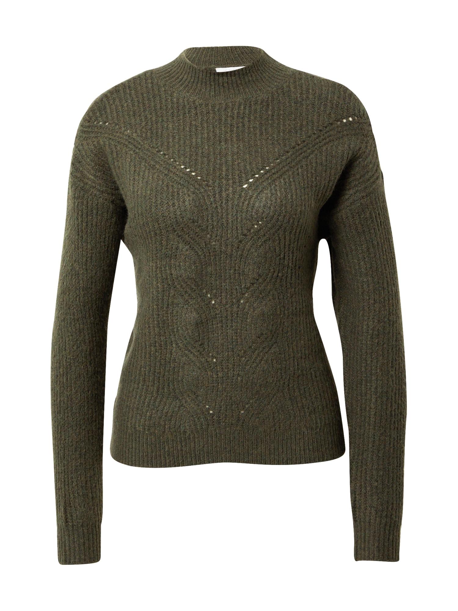 VILA Megztinis tamsiai žalia
