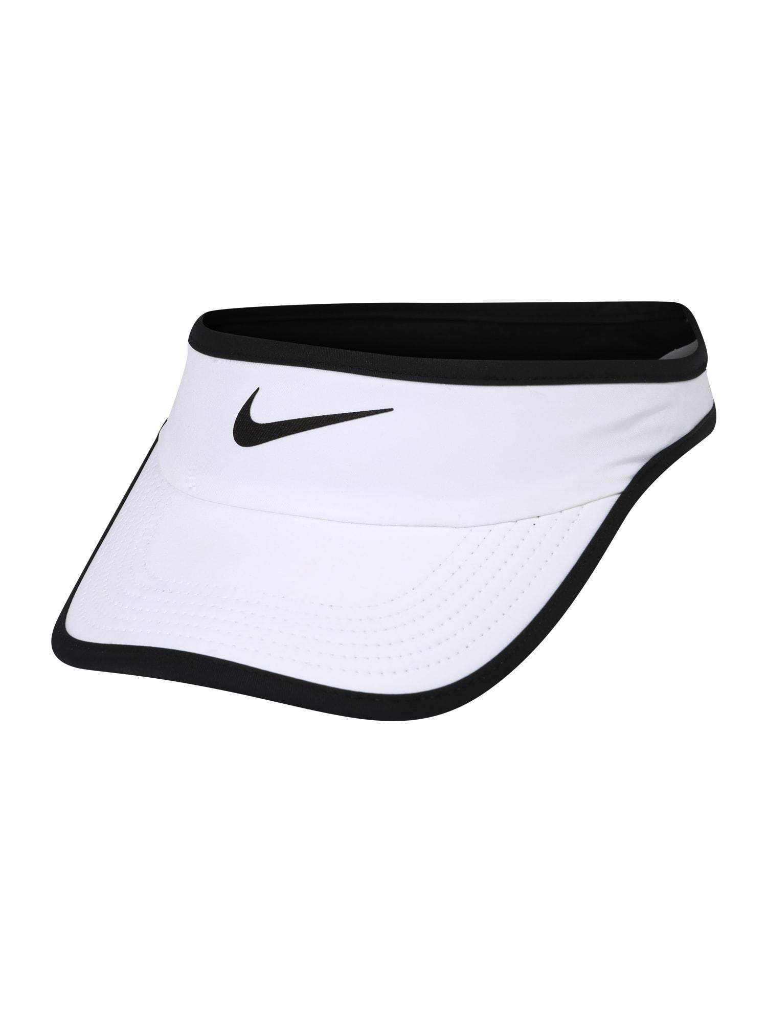 NIKE Sportinė kepurė balta / juoda