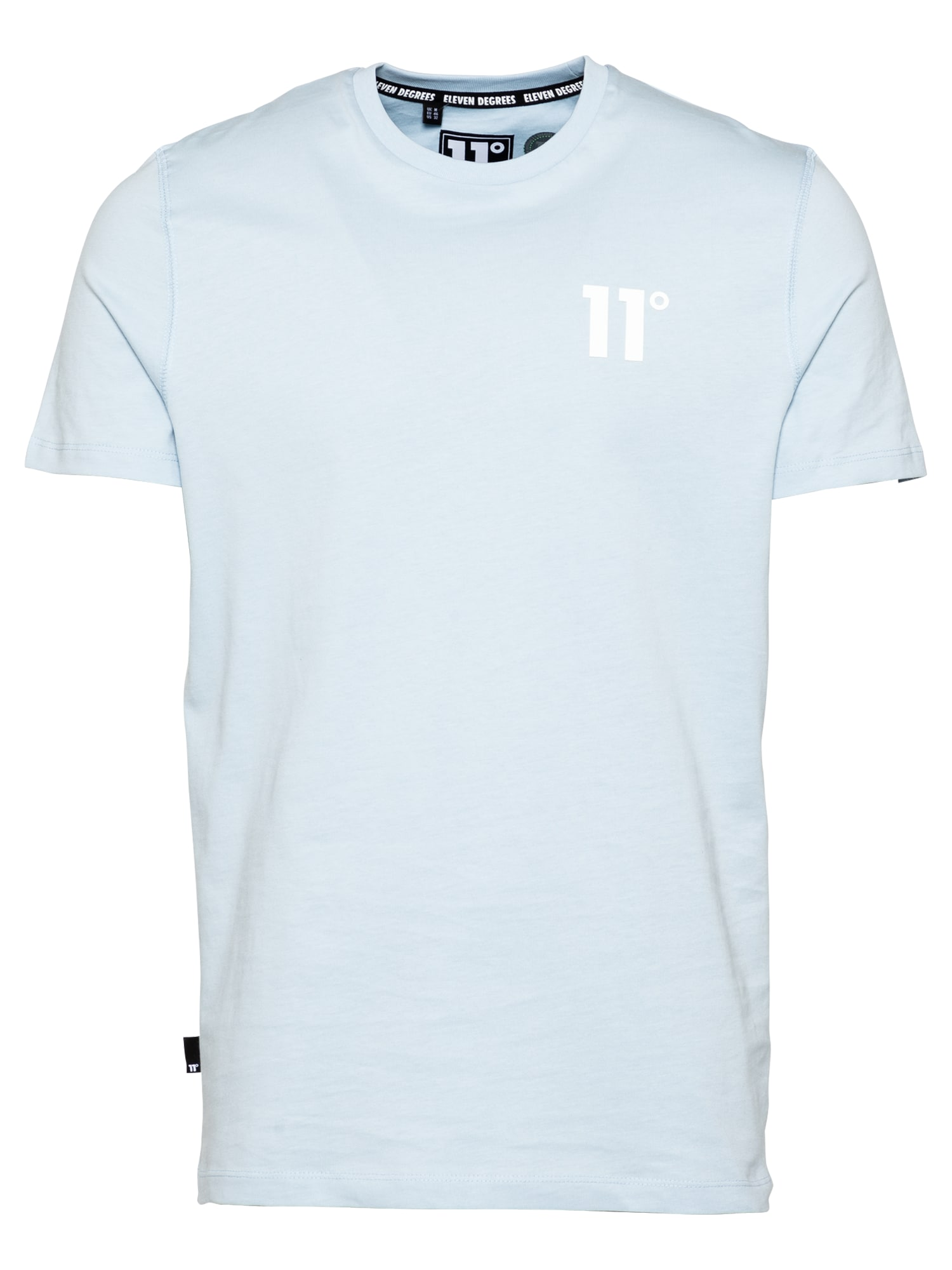 11 Degrees Marškinėliai 'CORE' šviesiai mėlyna / balta