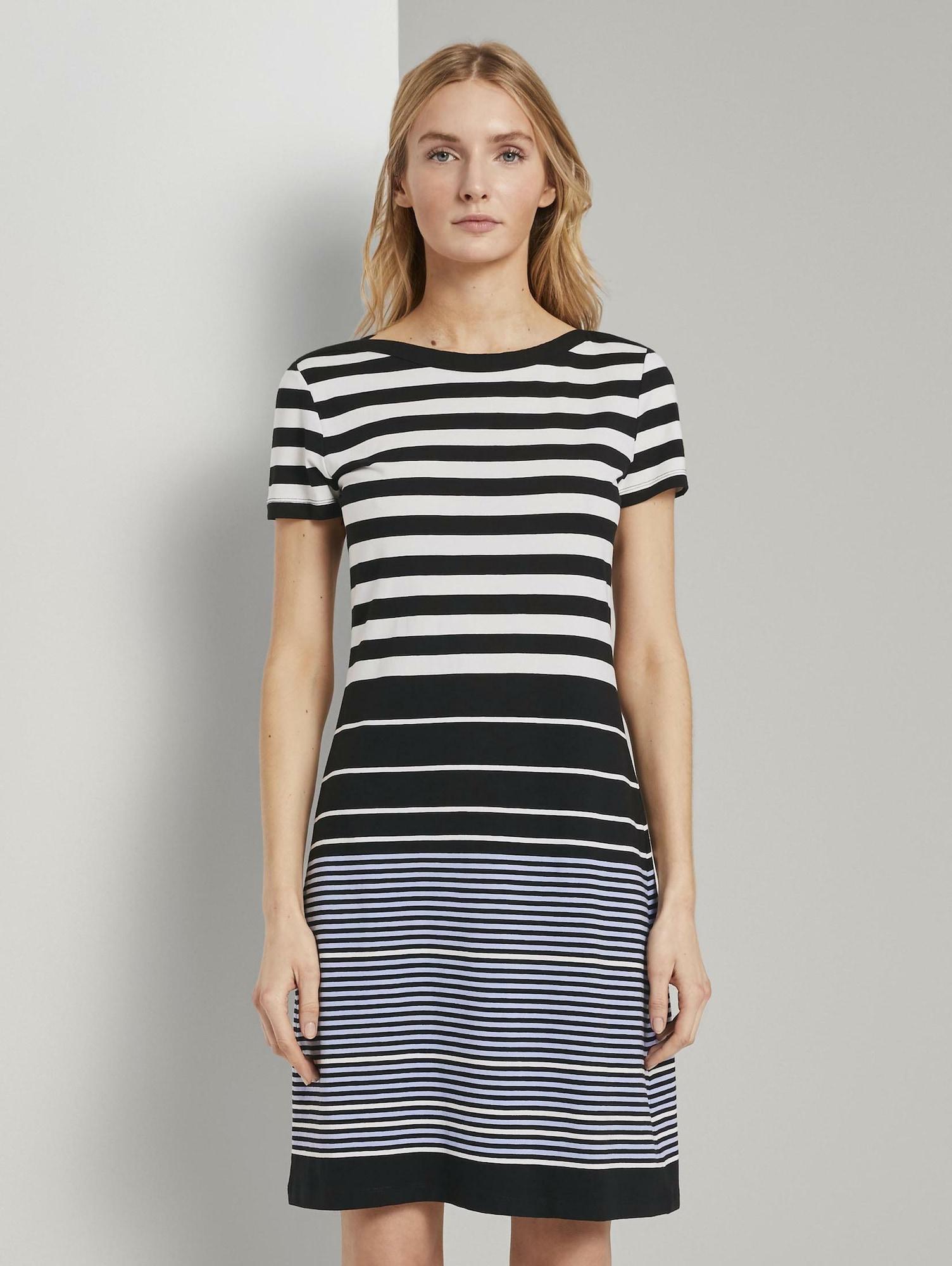 tom tailor - Jerseykleid mit Streifenmuster