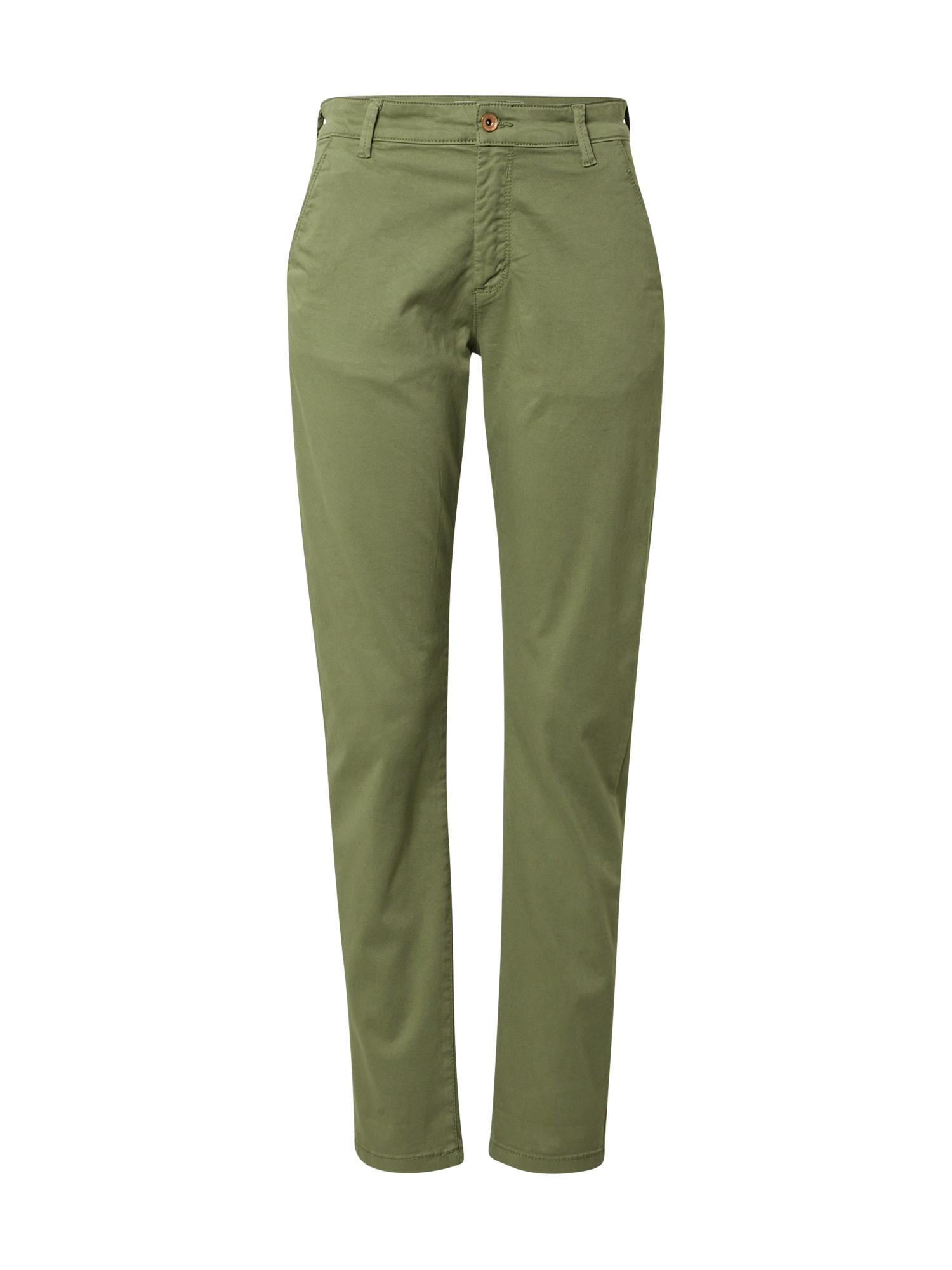 """JACQUELINE de YONG """"Chino"""" stiliaus kelnės 'JDYDakota' rusvai žalia"""