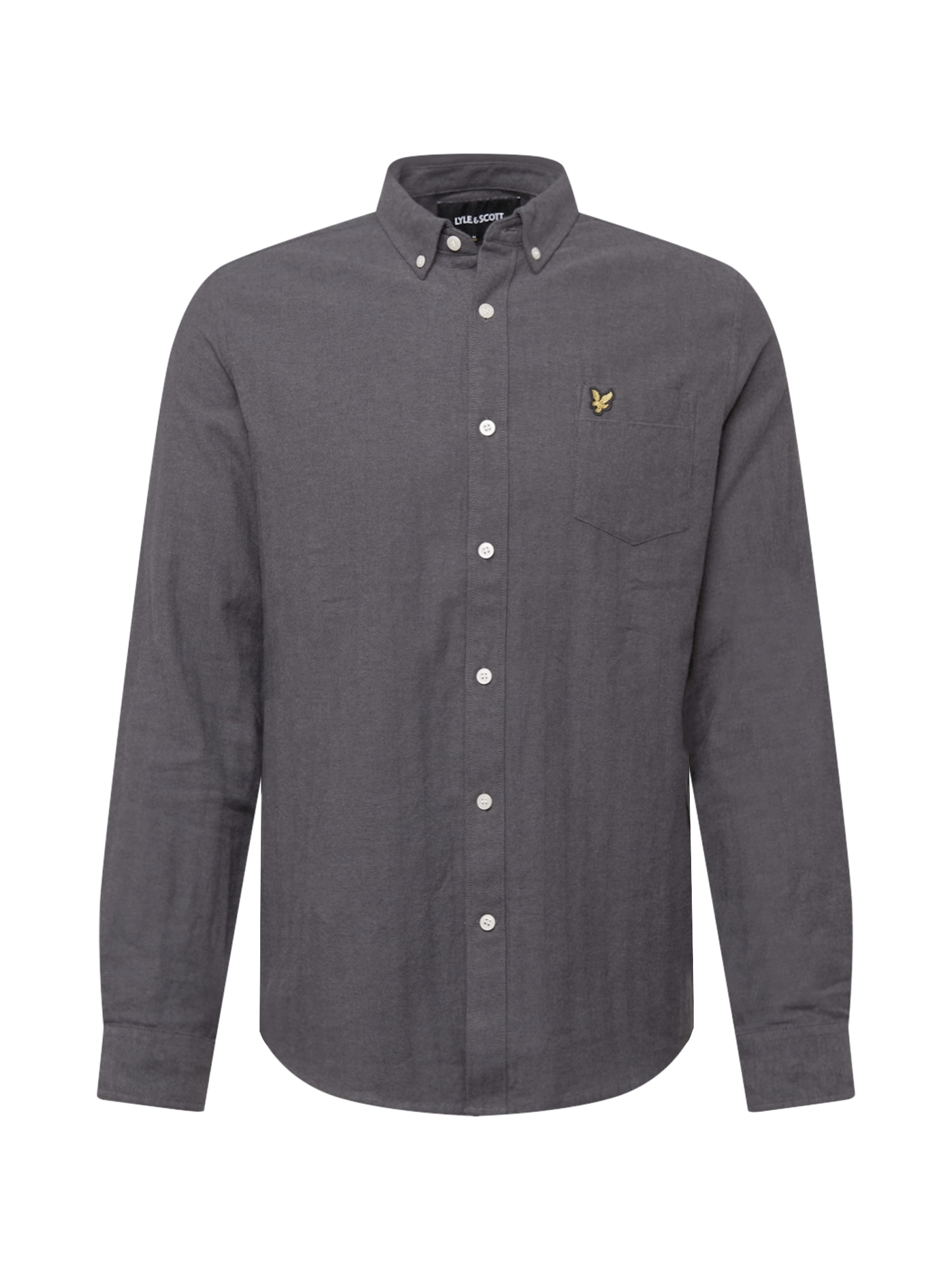 Lyle & Scott Košile 'Brushed Herringbone'  šedá
