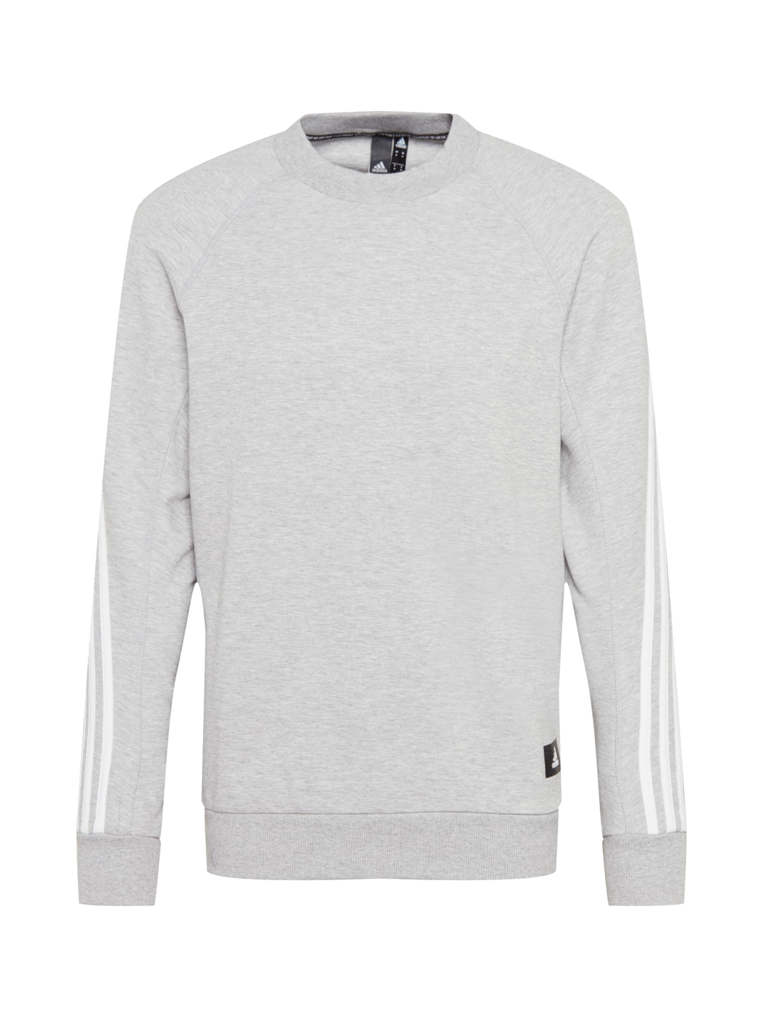ADIDAS PERFORMANCE Sportinio tipo megztinis margai pilka / balta / juoda