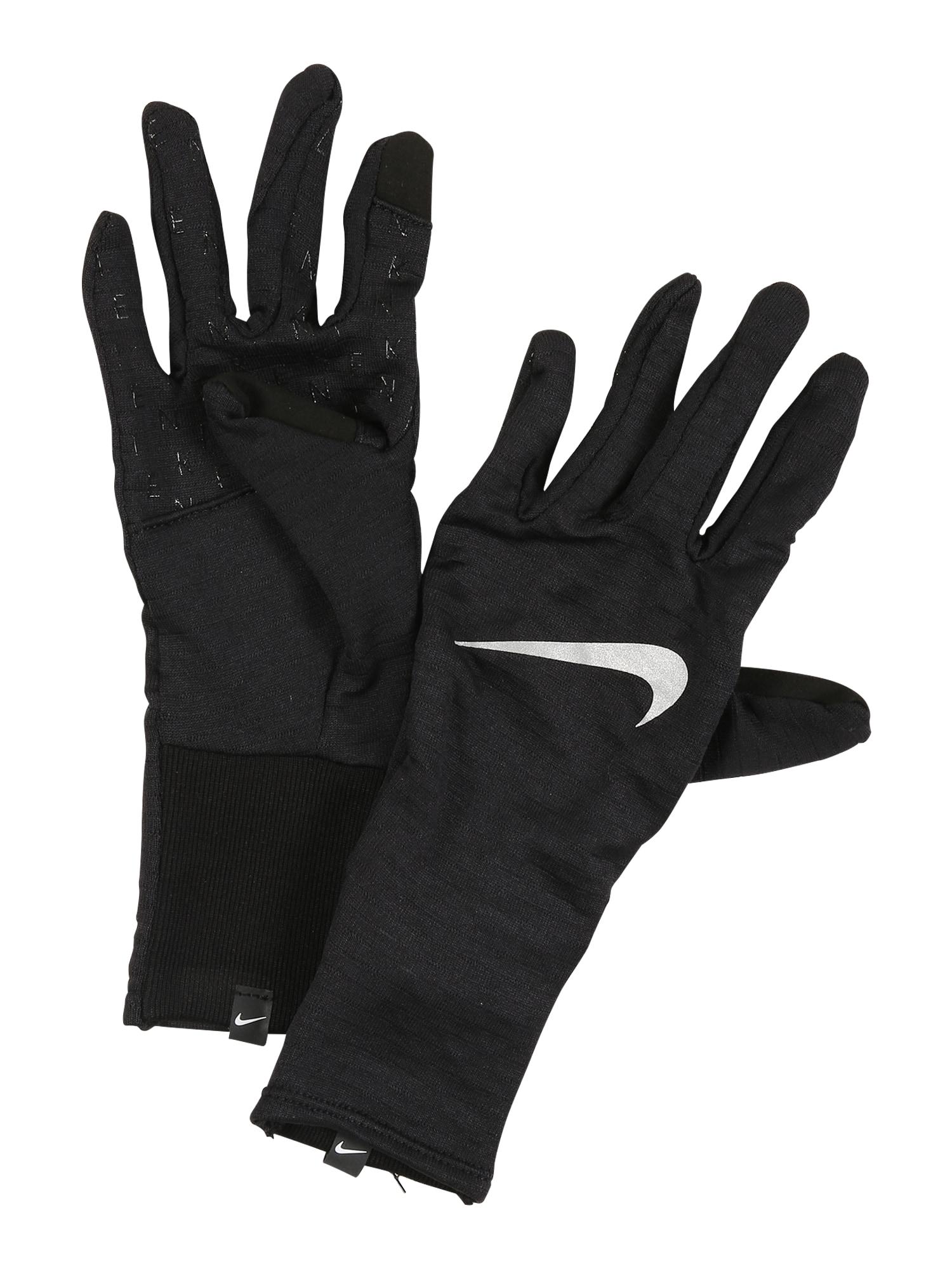 NIKE Accessoires Sportinės pirštinės 'Sphere' juoda / balta