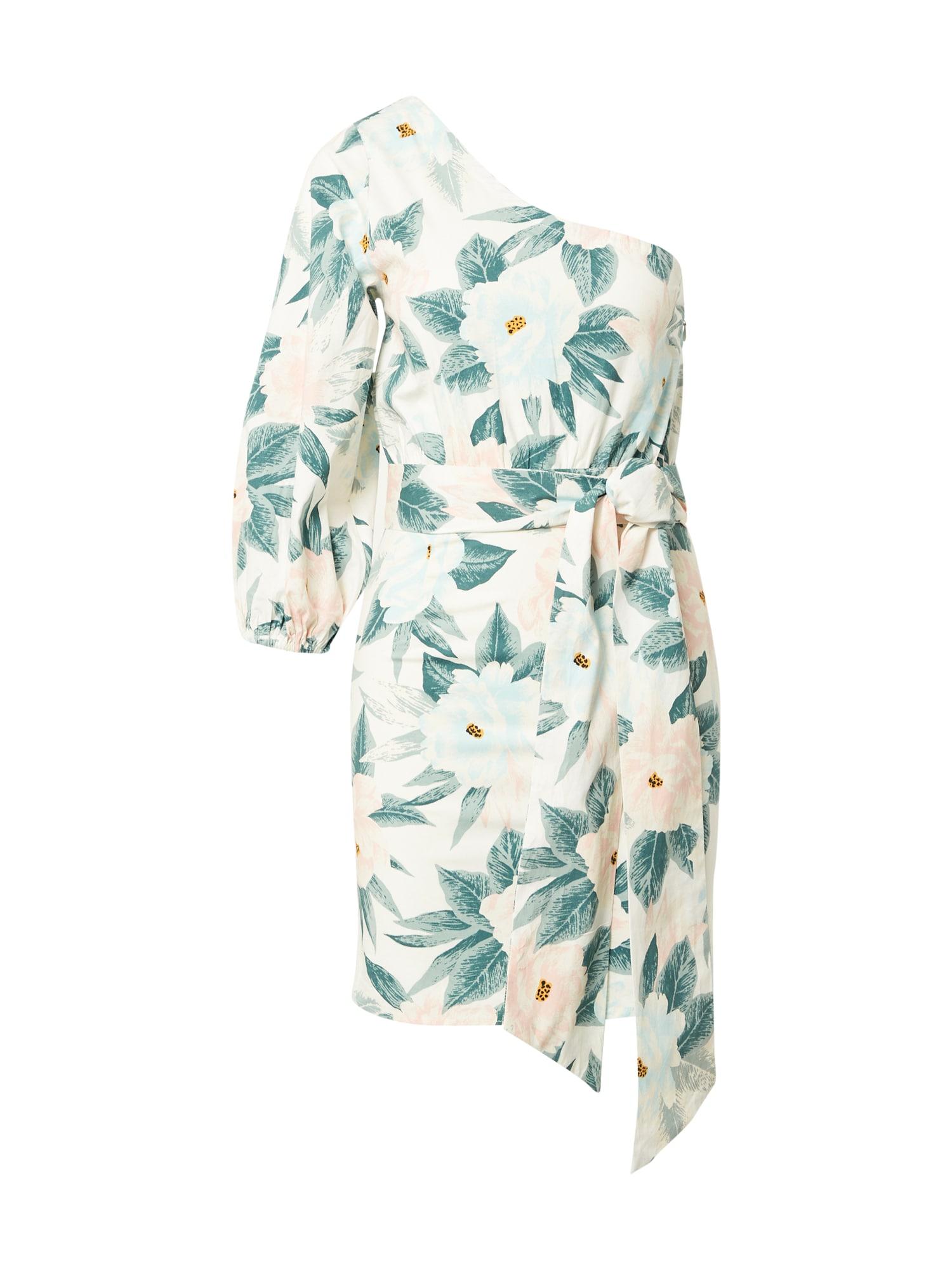 BILLABONG Paplūdimio suknelė 'SUNKISSED' balta / smėlio spalva / žalia / rožinė