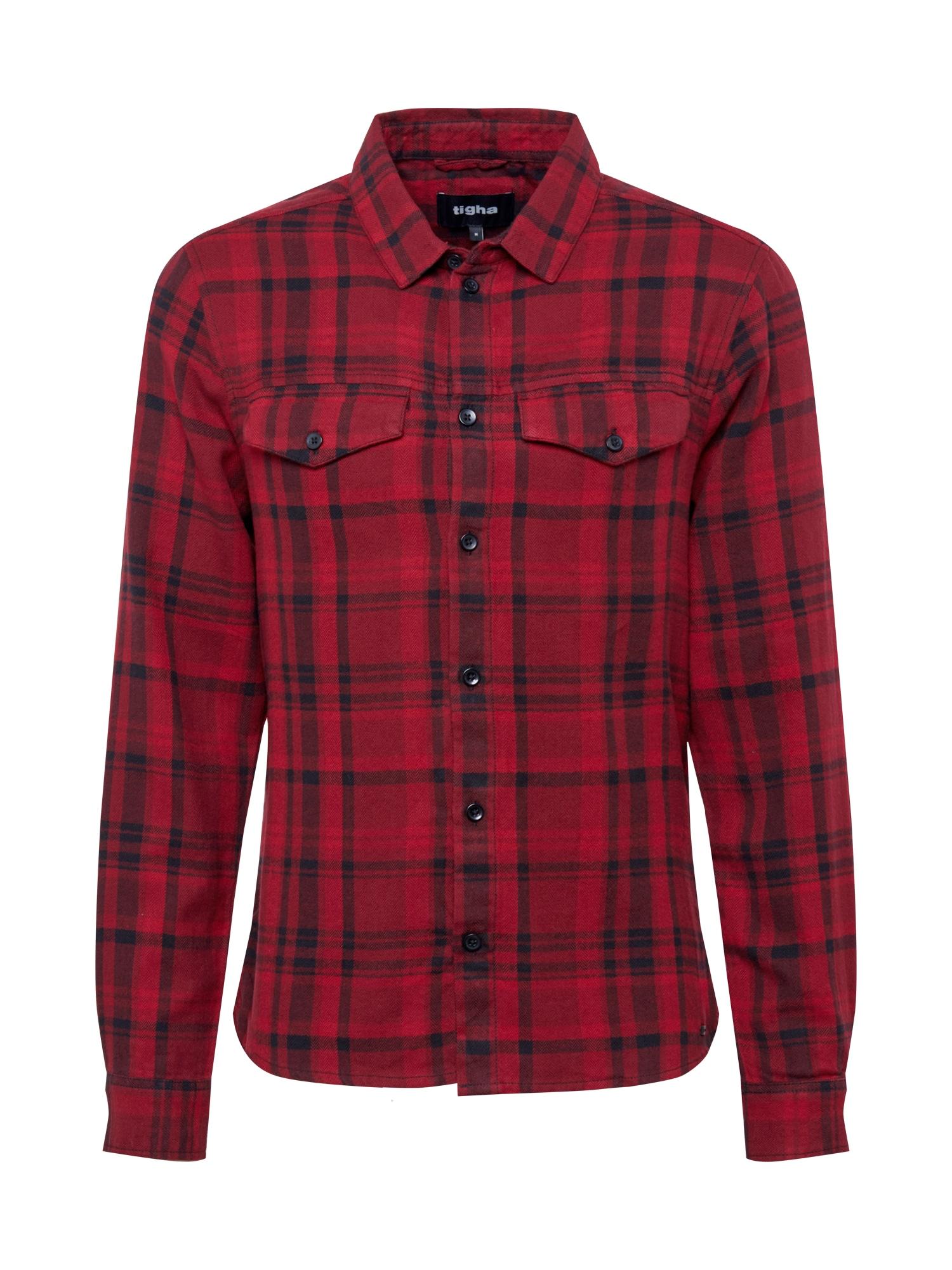 tigha Košile 'Natsu'  červená / černá