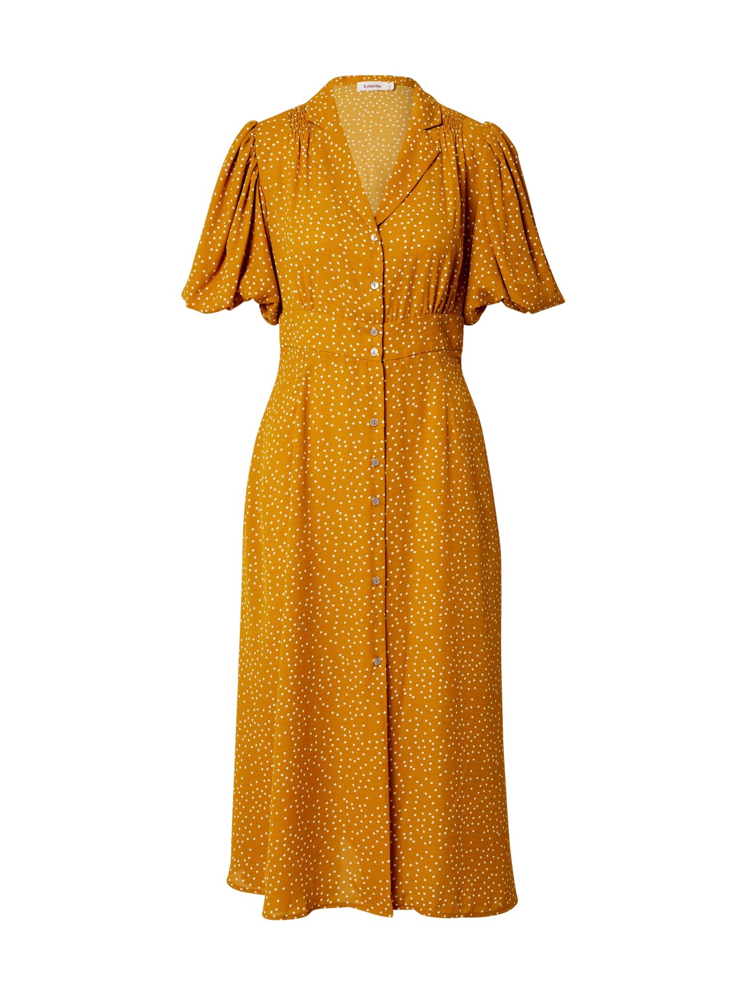 Louche Palaidinės tipo suknelė geltona / balta