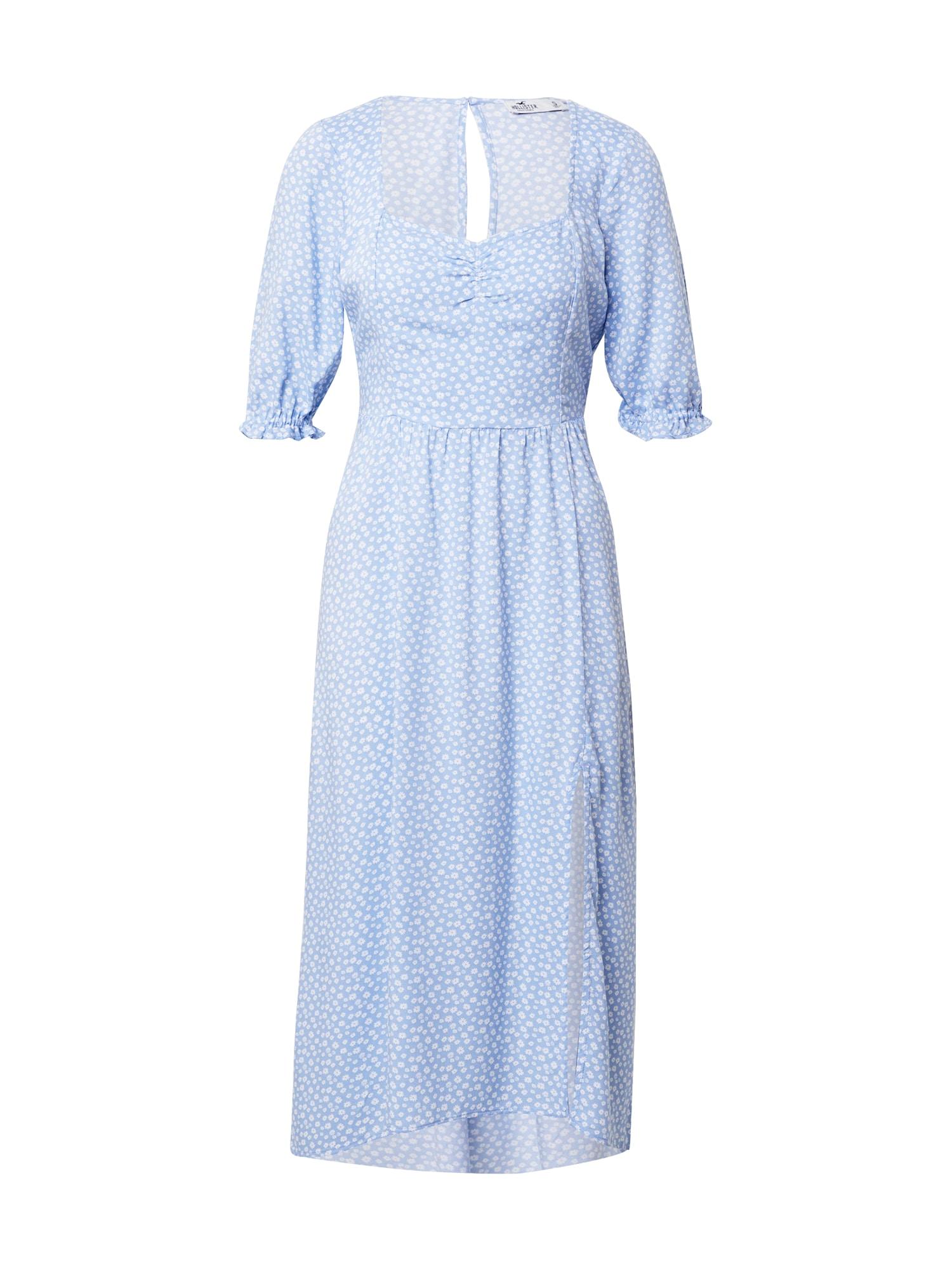 HOLLISTER Vasarinė suknelė šviesiai mėlyna / balta