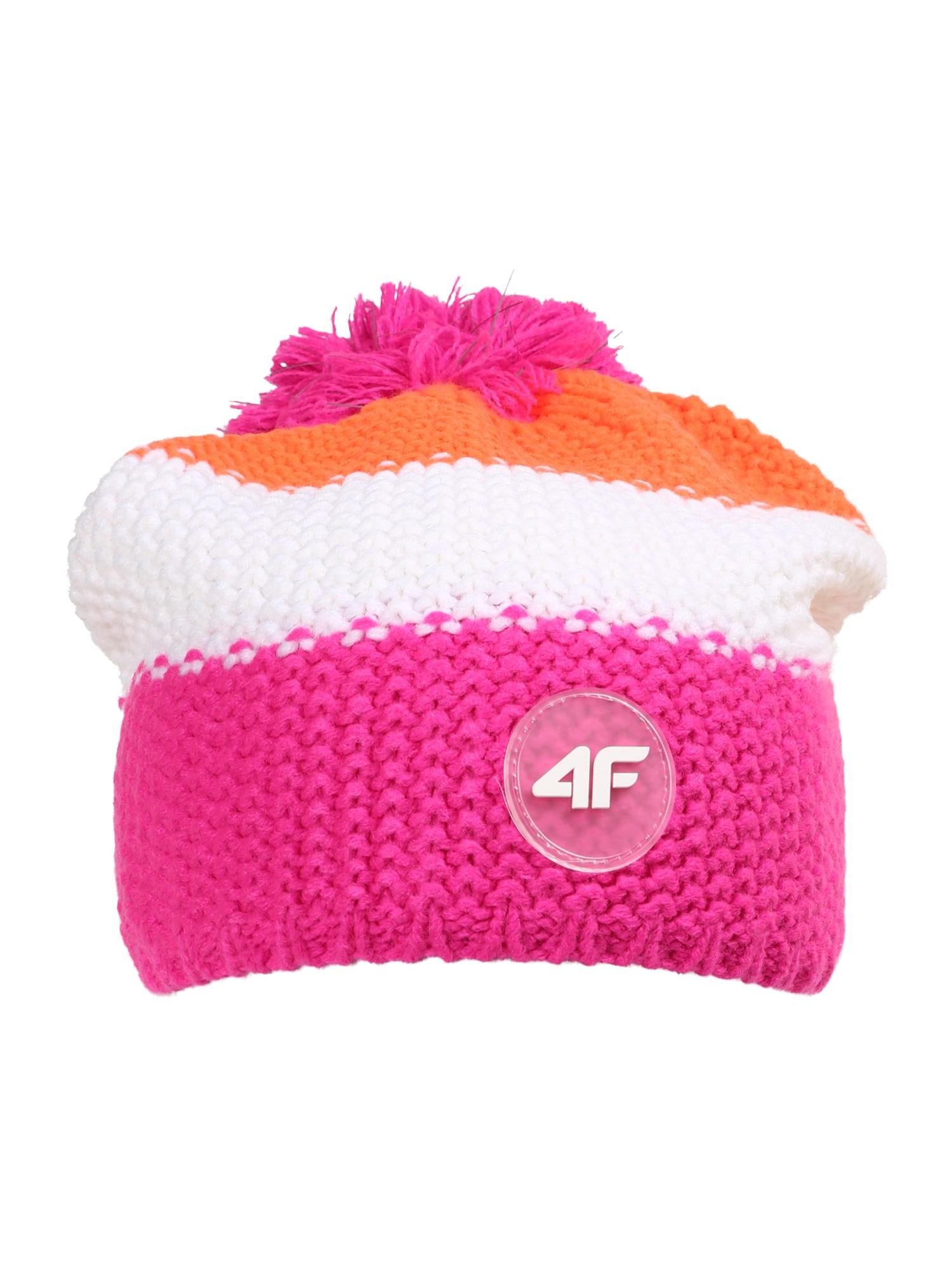 4F Sportinė kepurė rožinė / balta / oranžinė