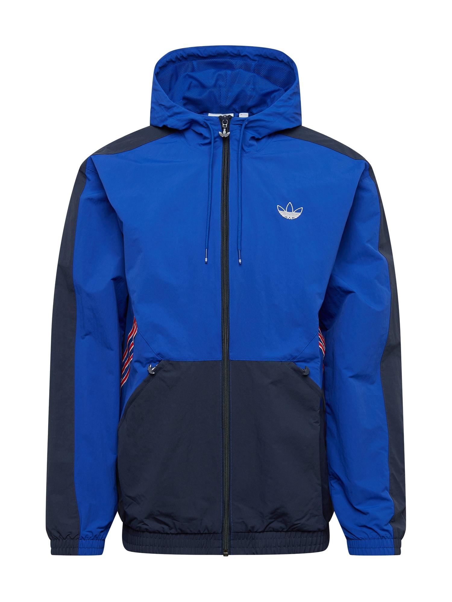 ADIDAS ORIGINALS Demisezoninė striukė mėlyna / tamsiai mėlyna