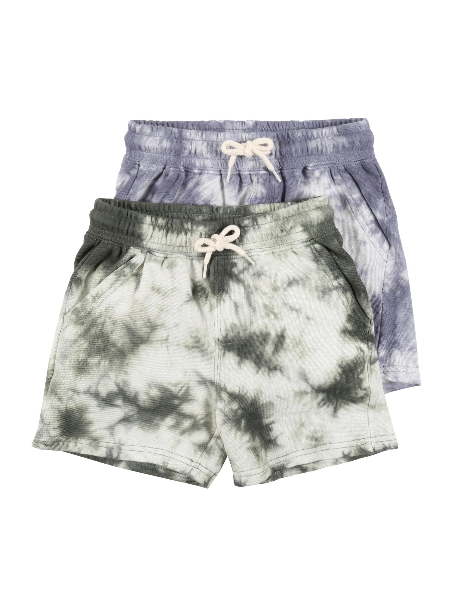 Cotton On Kelnės 'HENRY' rusvai žalia / šviesiai violetinė / balta