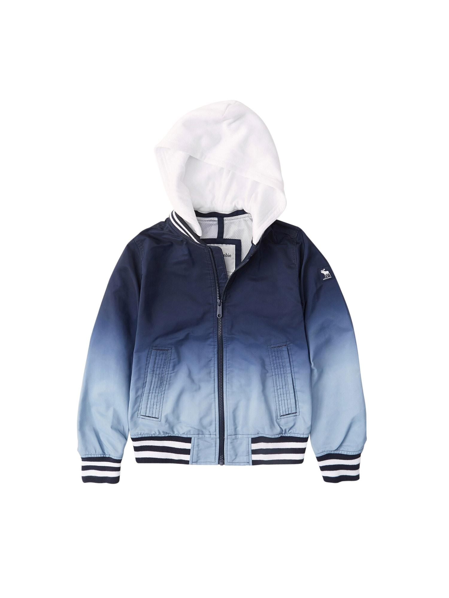Abercrombie & Fitch Demisezoninė striukė mėlyna / nakties mėlyna / šviesiai mėlyna / balta