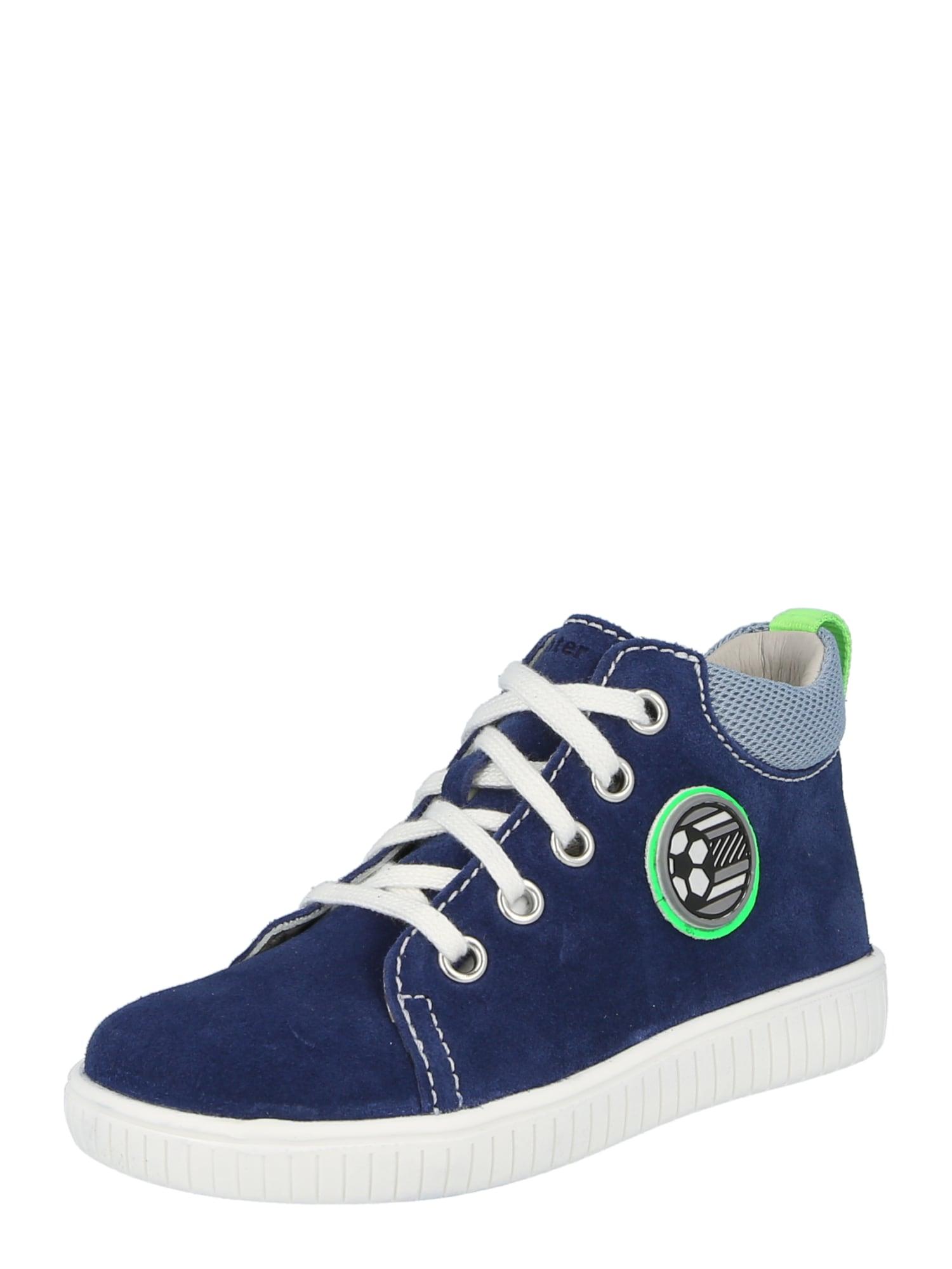 RICHTER Sportbačiai šviesiai mėlyna / juoda / balta / tamsiai mėlyna / neoninė žalia