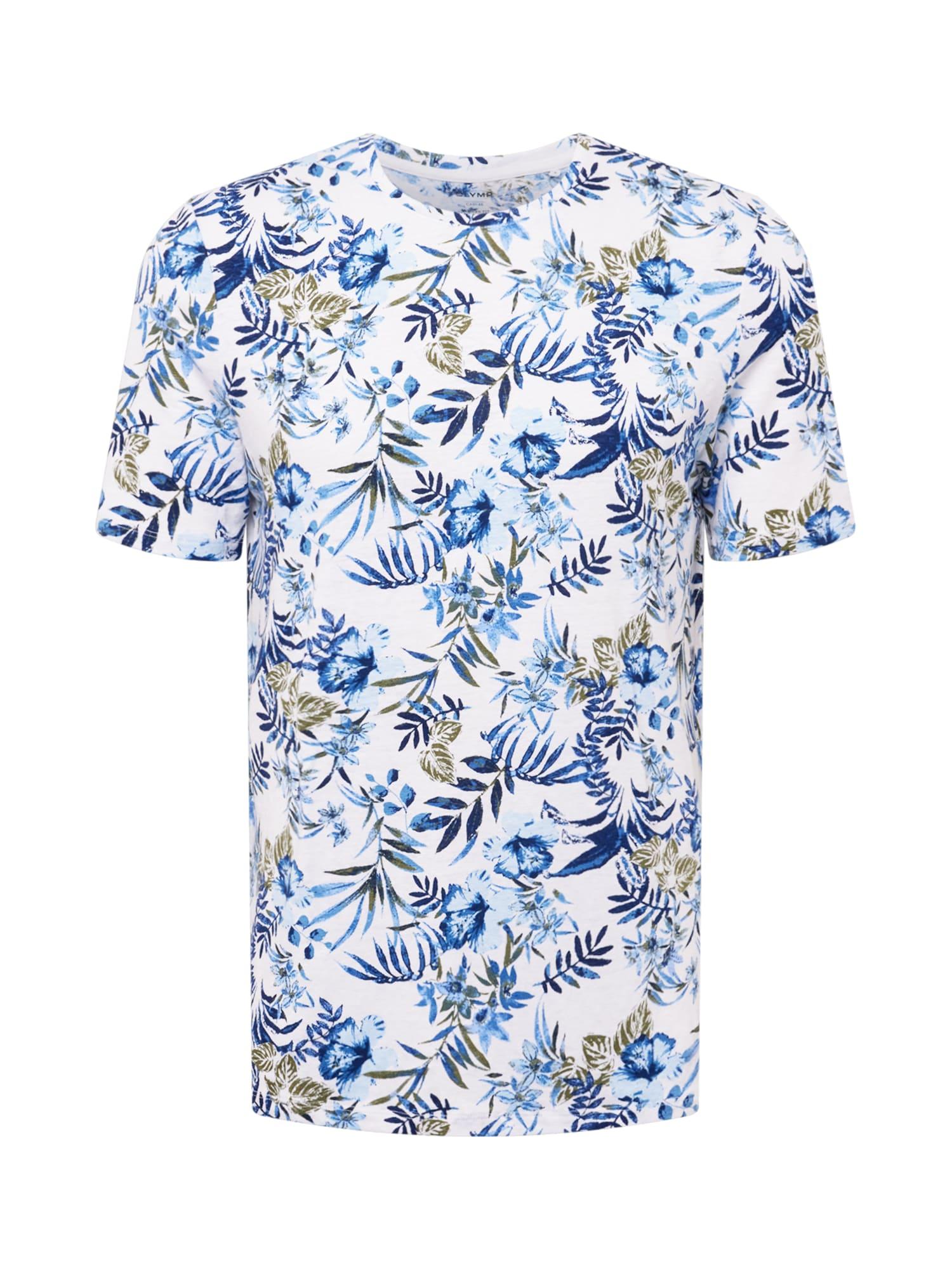 OLYMP Marškinėliai mėlyna / balta / rusvai žalia / šviesiai mėlyna