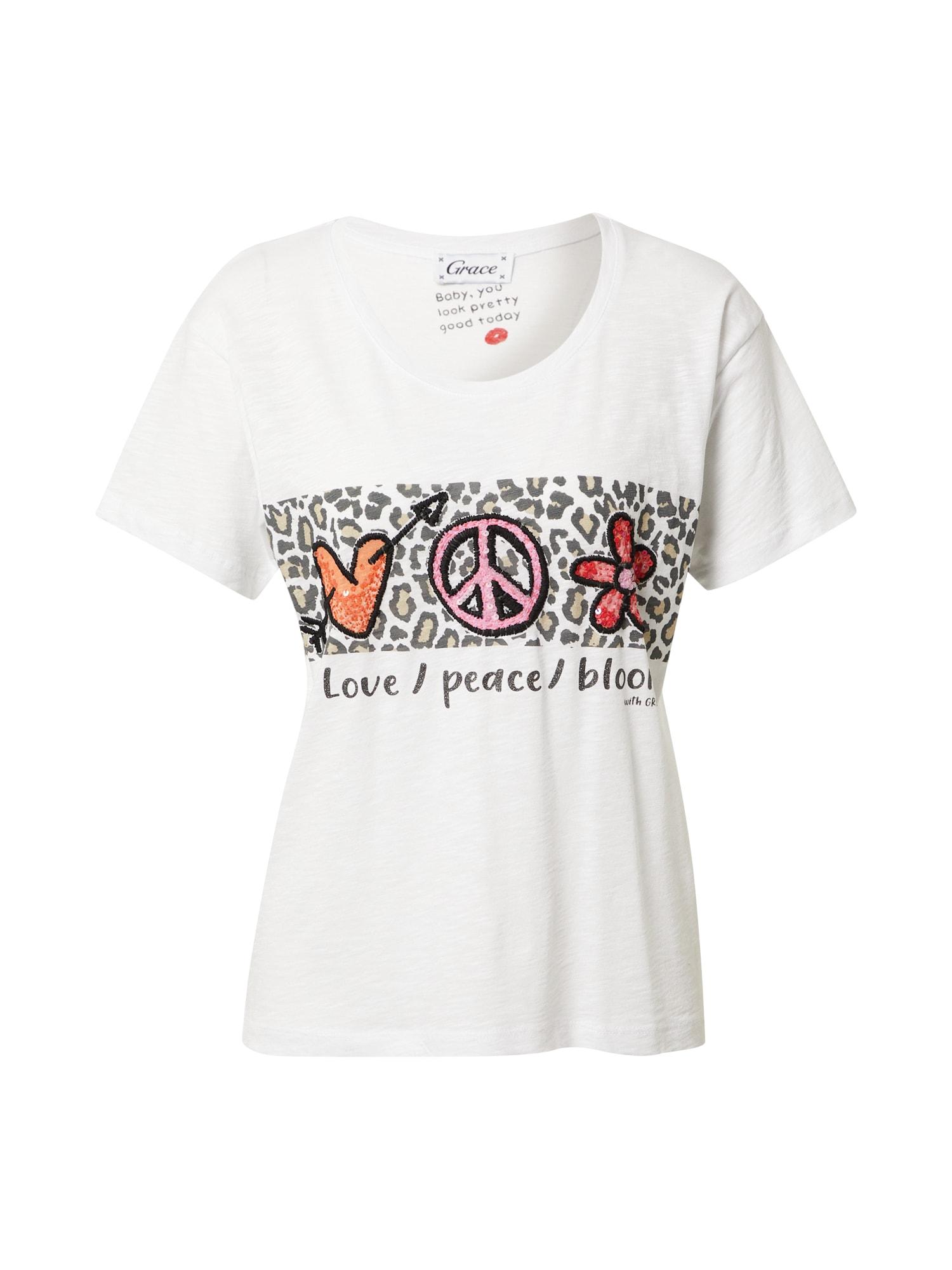 Grace Marškinėliai balta / mišrios spalvos